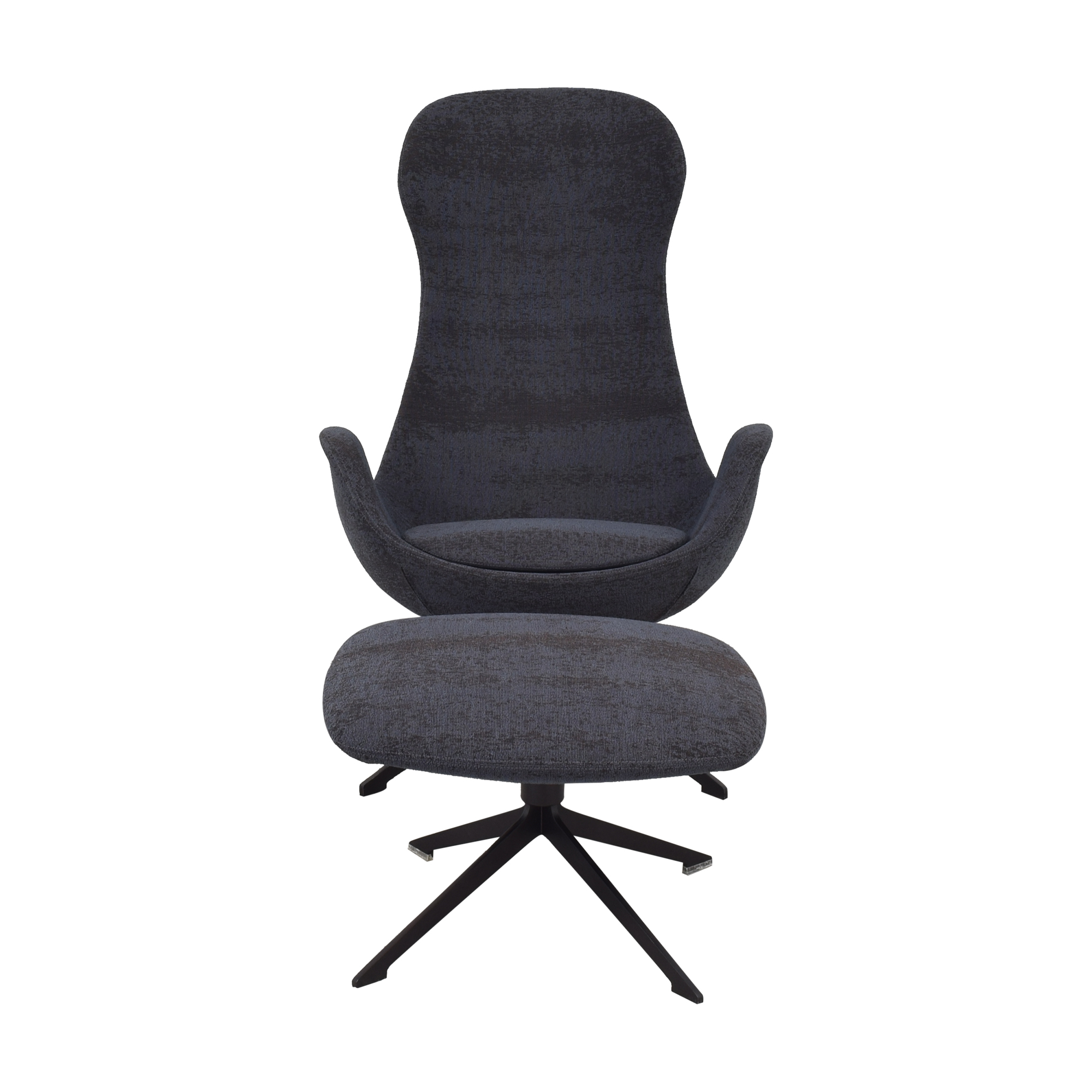 shop Koleksiyon Halia High Back Armchair with Ottoman Koleksiyon Chairs