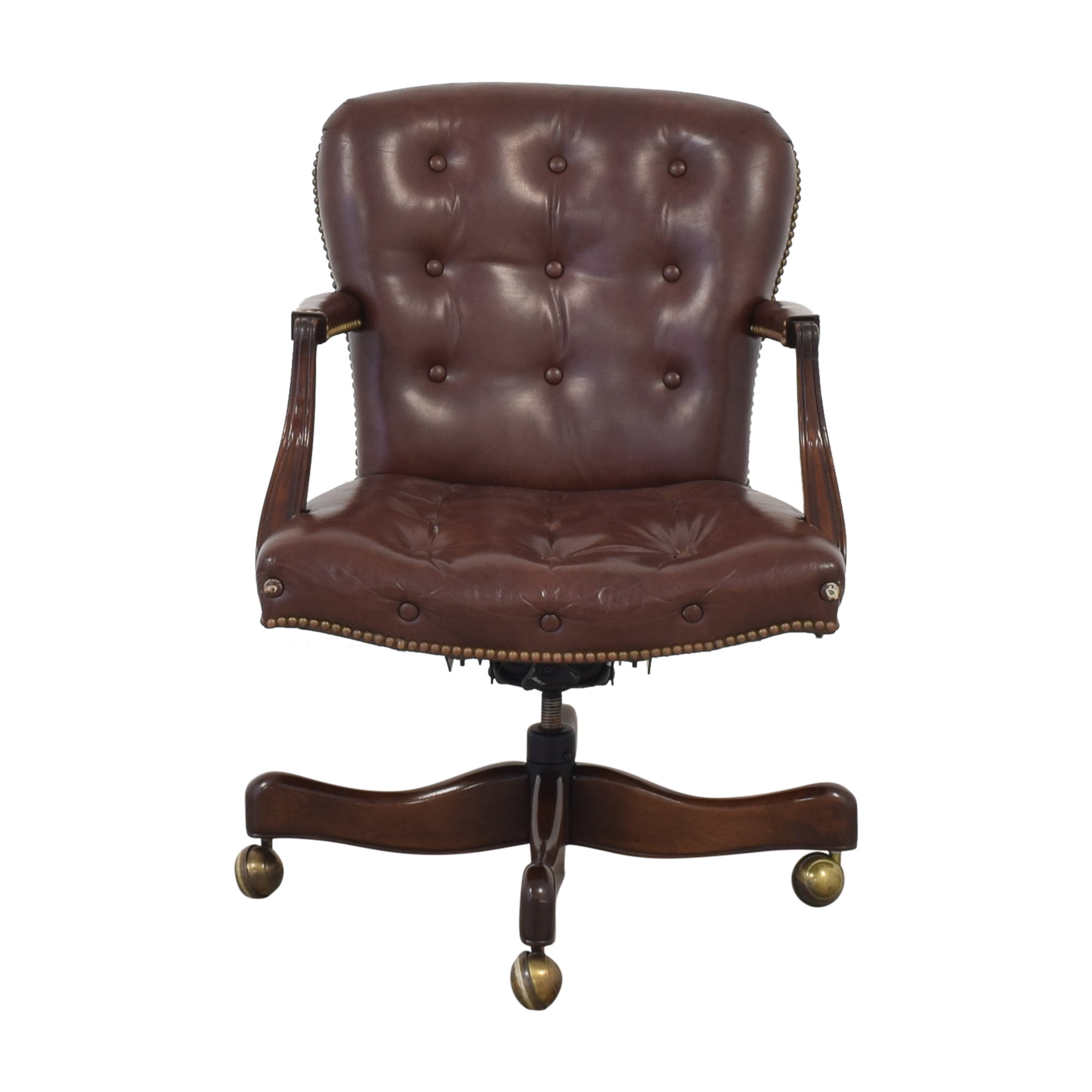 buy Hickory Chair Swivel Tilt Desk Chair Hickory Chair Chairs