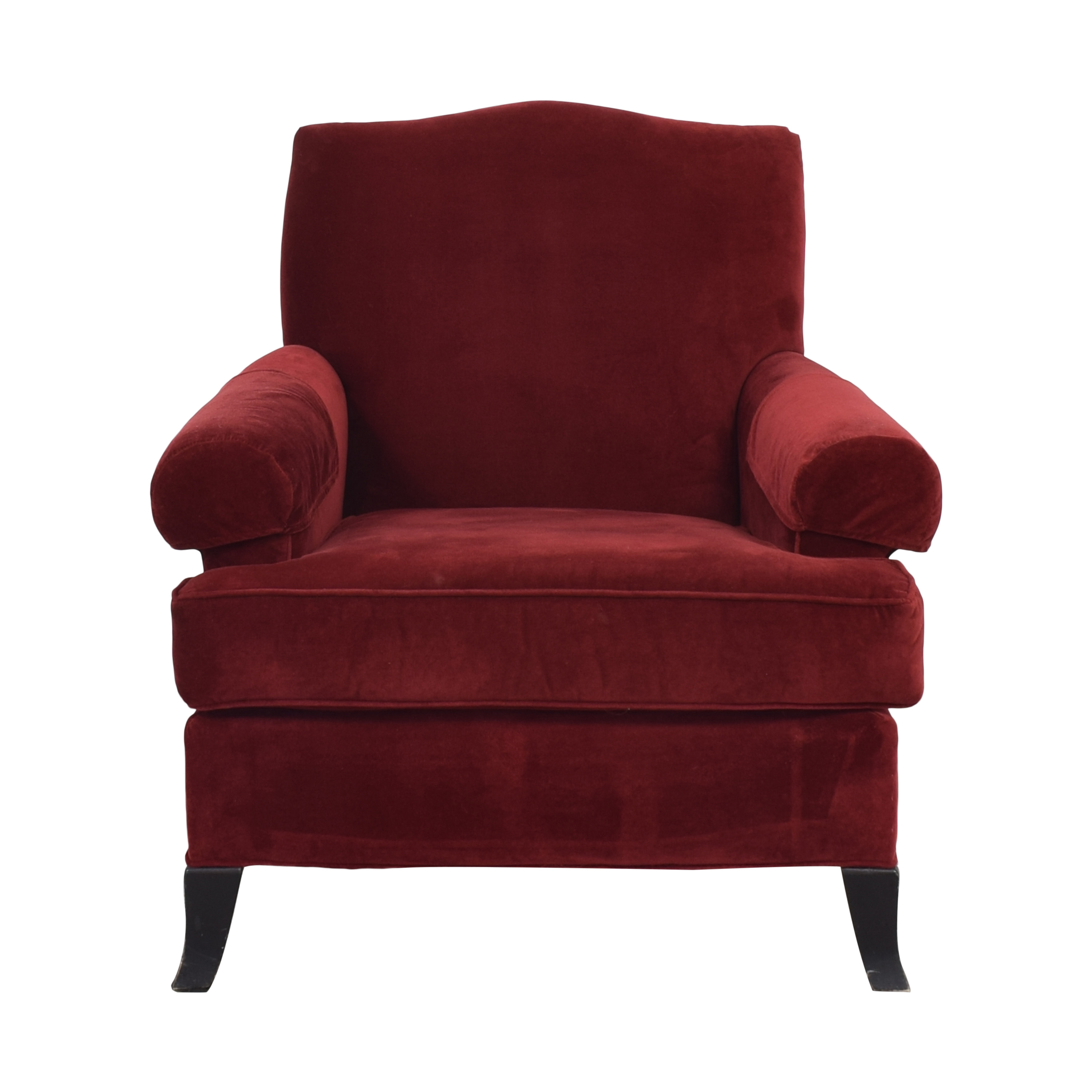 Crate & Barrel Crate & Barrel Arm Chair red