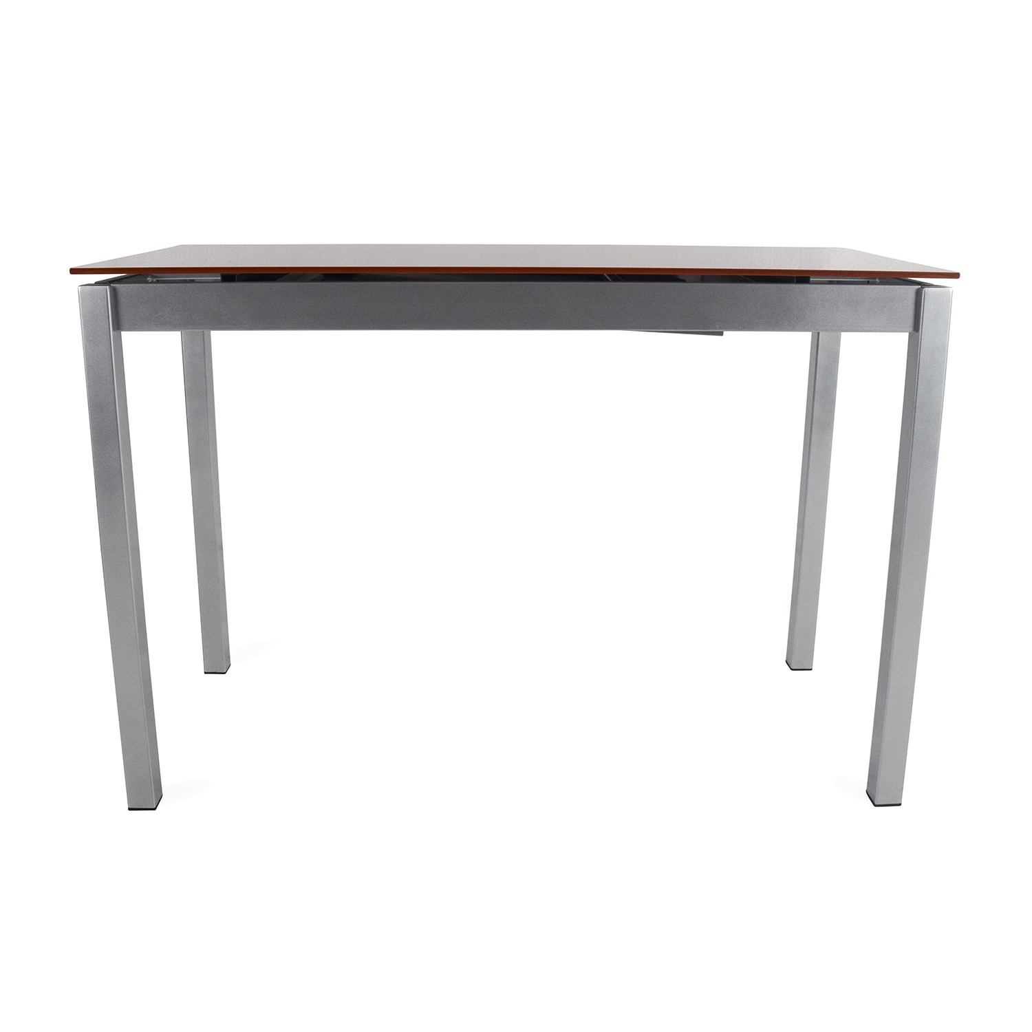 Unknown Brand Glass Top Extendable Metal Table coupon