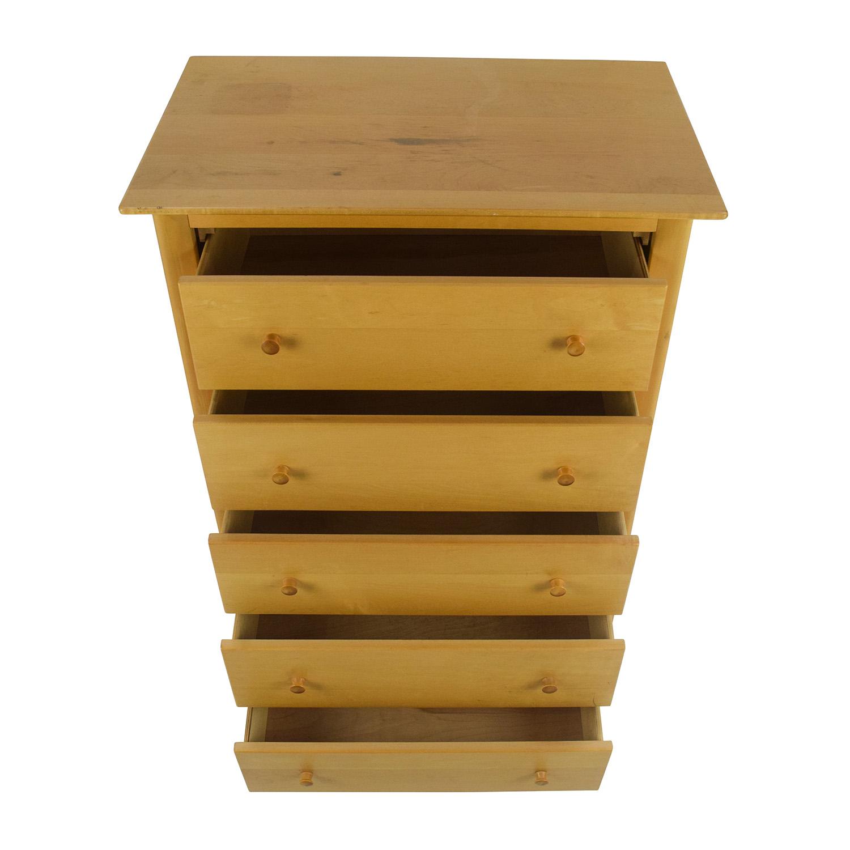 54 Off Unknown Brand Birch Wood Dresser Storage