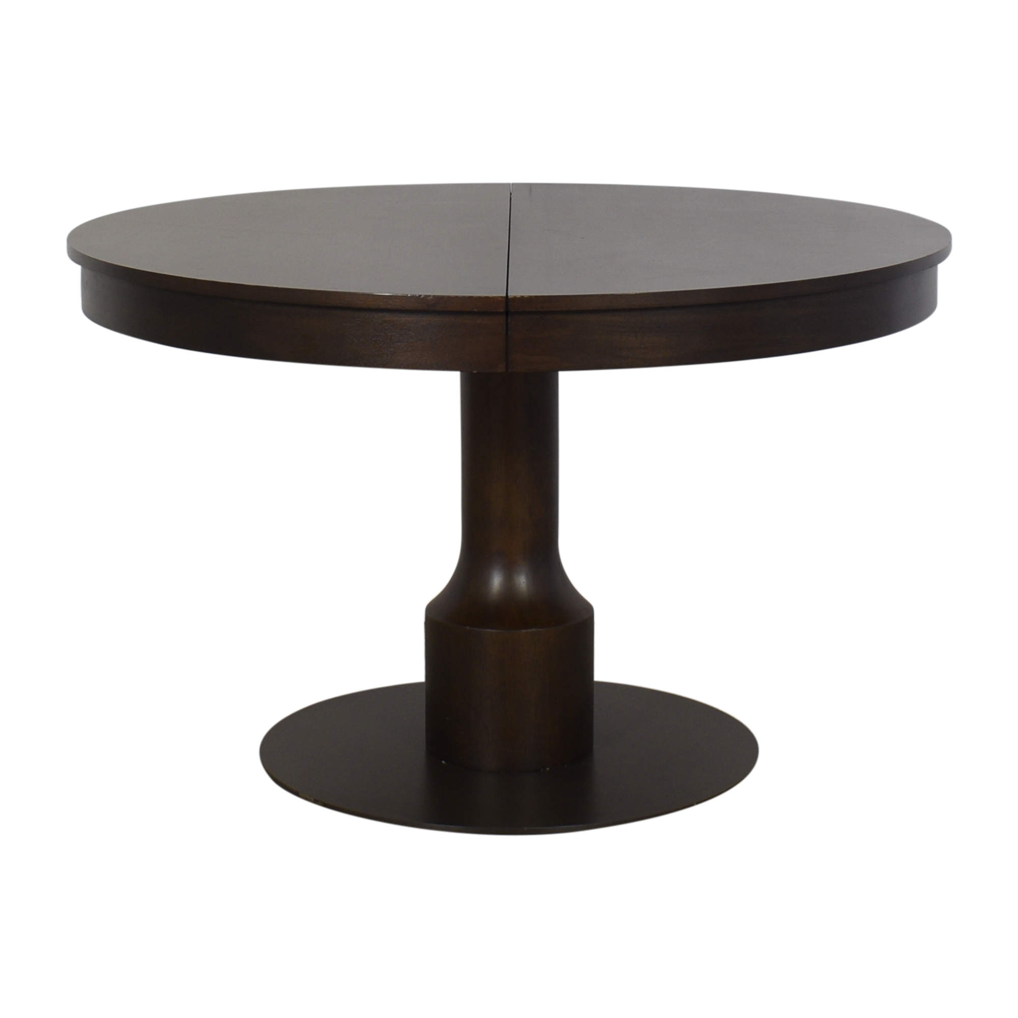 shop West Elm Turned Pedestal Expandable Table West Elm Tables