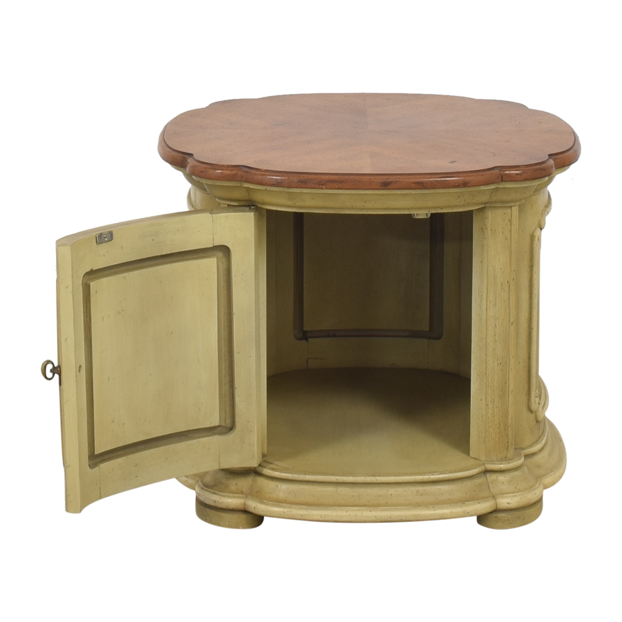 Drum Style End Table pa