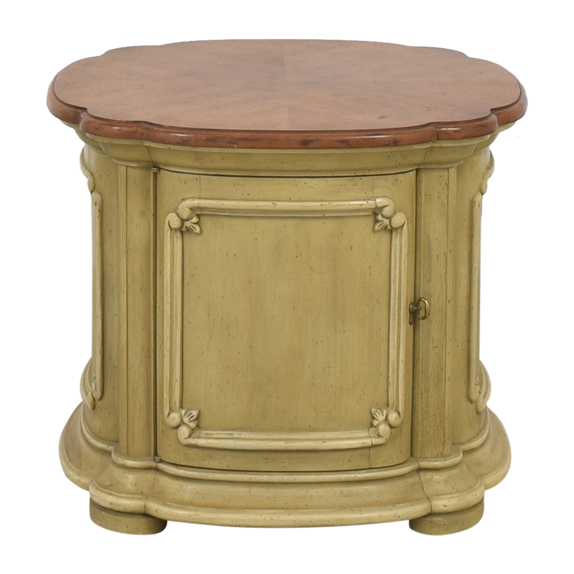 Drum Style End Table ma
