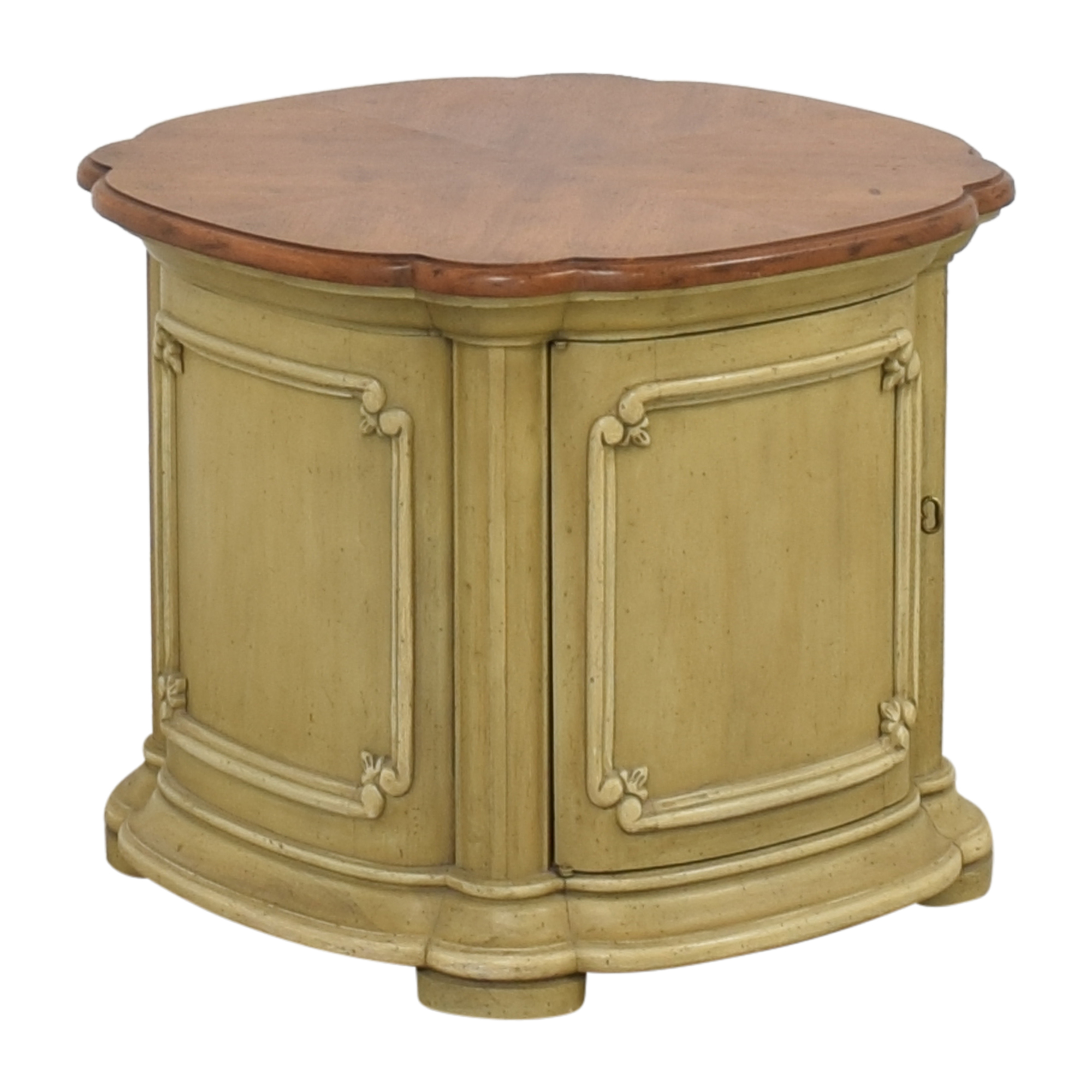 Drum Style End Table on sale