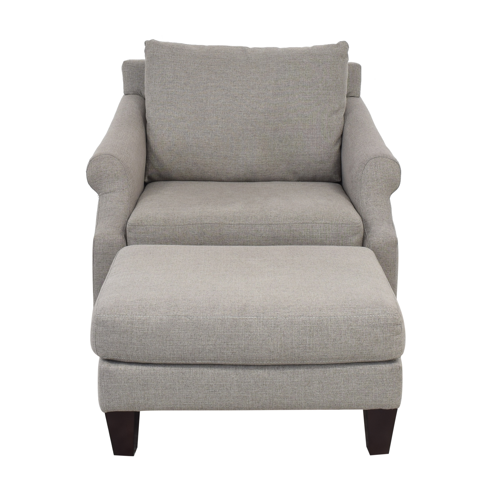 buy Raymour & Flanigan Raymour & Flanigan Anastasia Oversized Chair with Ottoman online