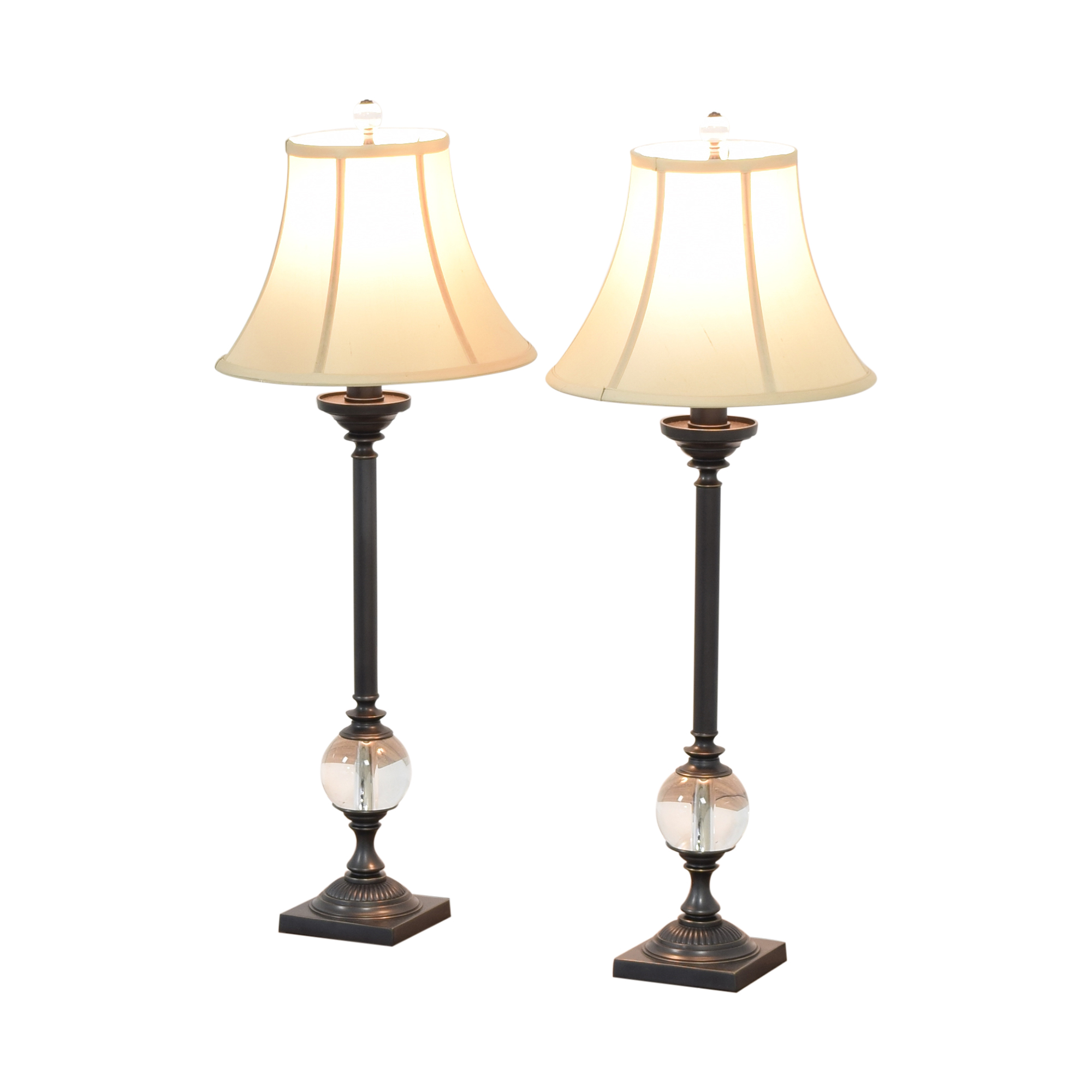 Restoration Hardware Restoration Hardware Crystal Ball Table Lamps