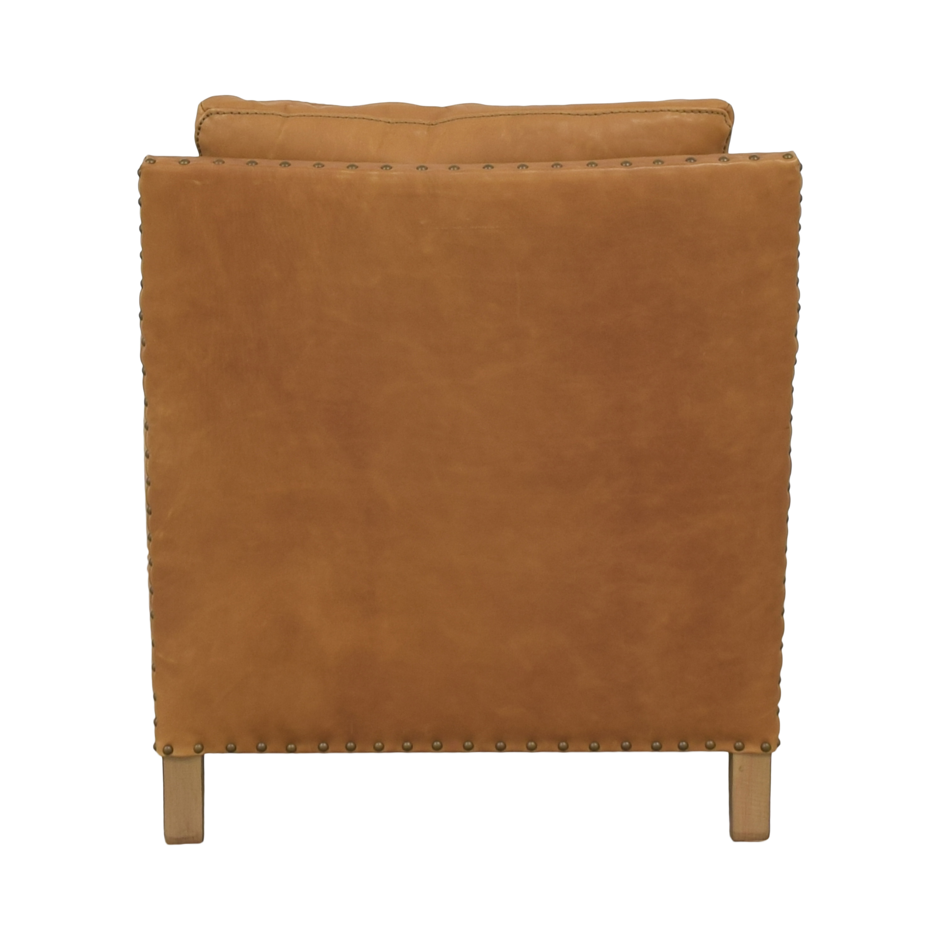 Crate & Barrel Crate & Barrel Trevor Leather Chair brown