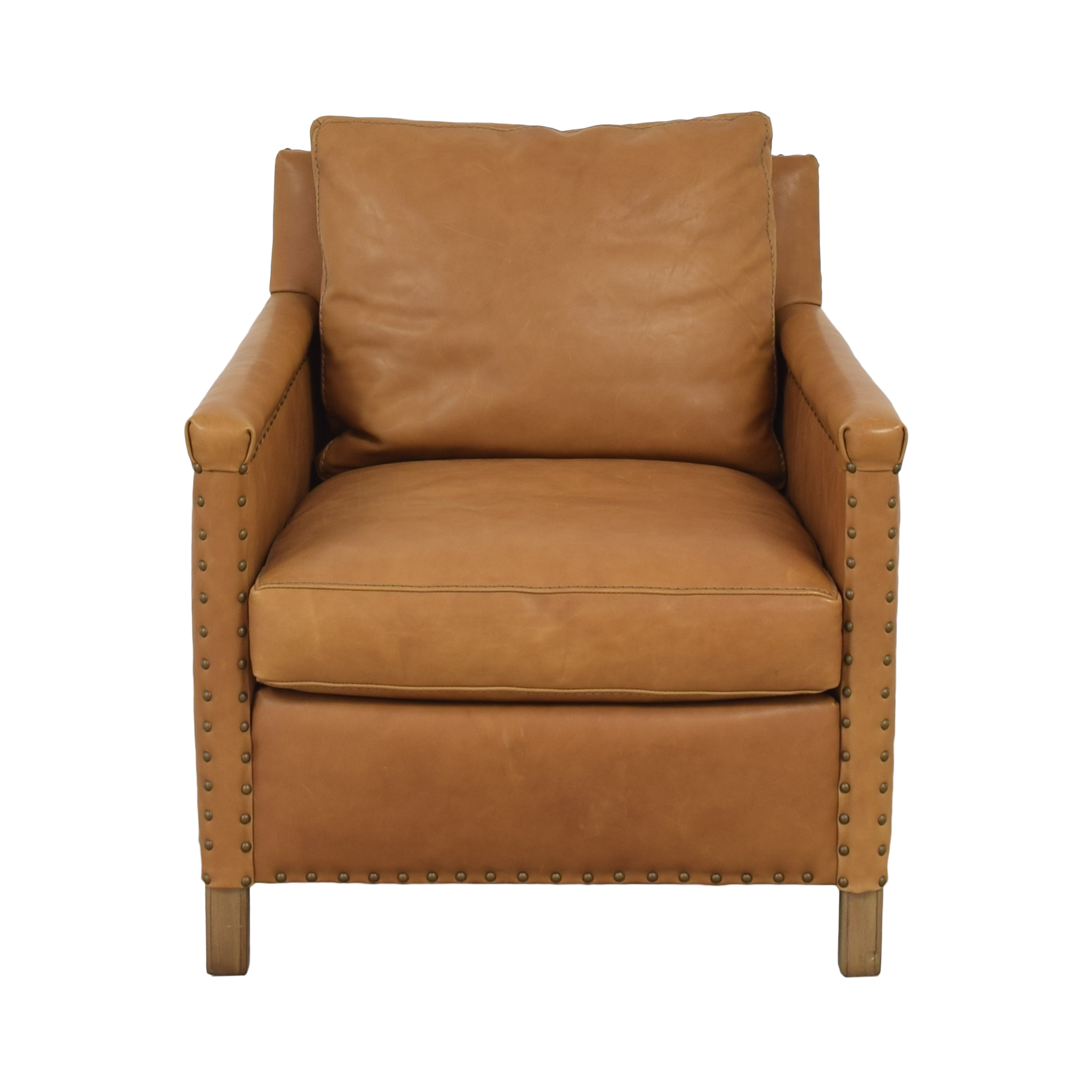 Crate & Barrel Crate & Barrel Trevor Leather Chair ma