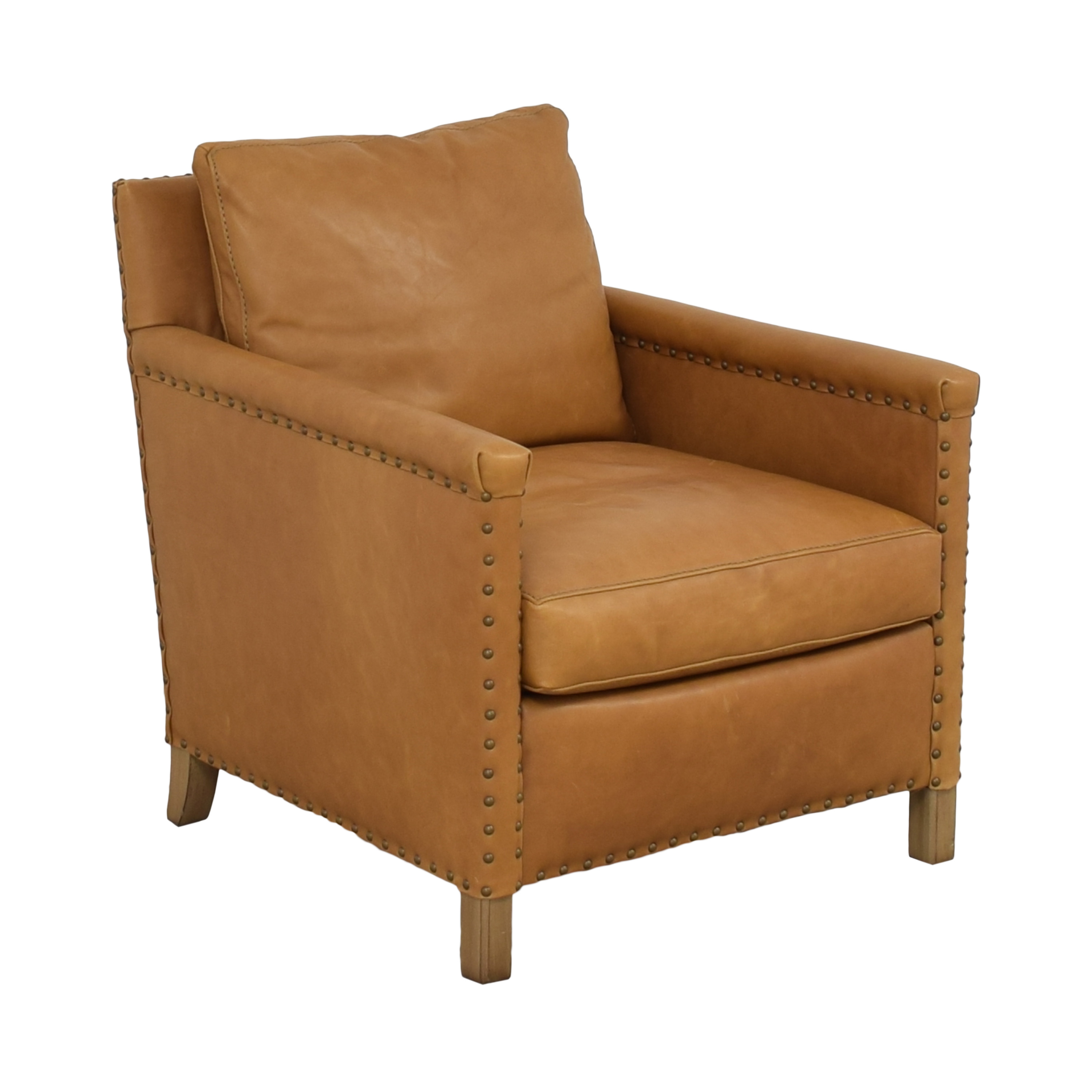 shop Crate & Barrel Trevor Leather Chair Crate & Barrel