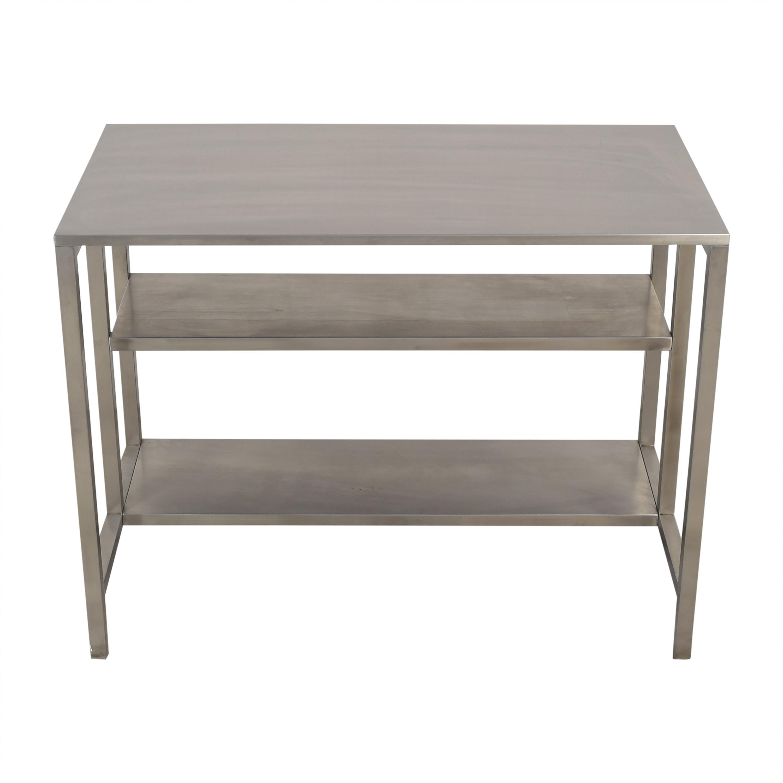 shop CB2 Coterie Kitchen Cart CB2 Utility Tables