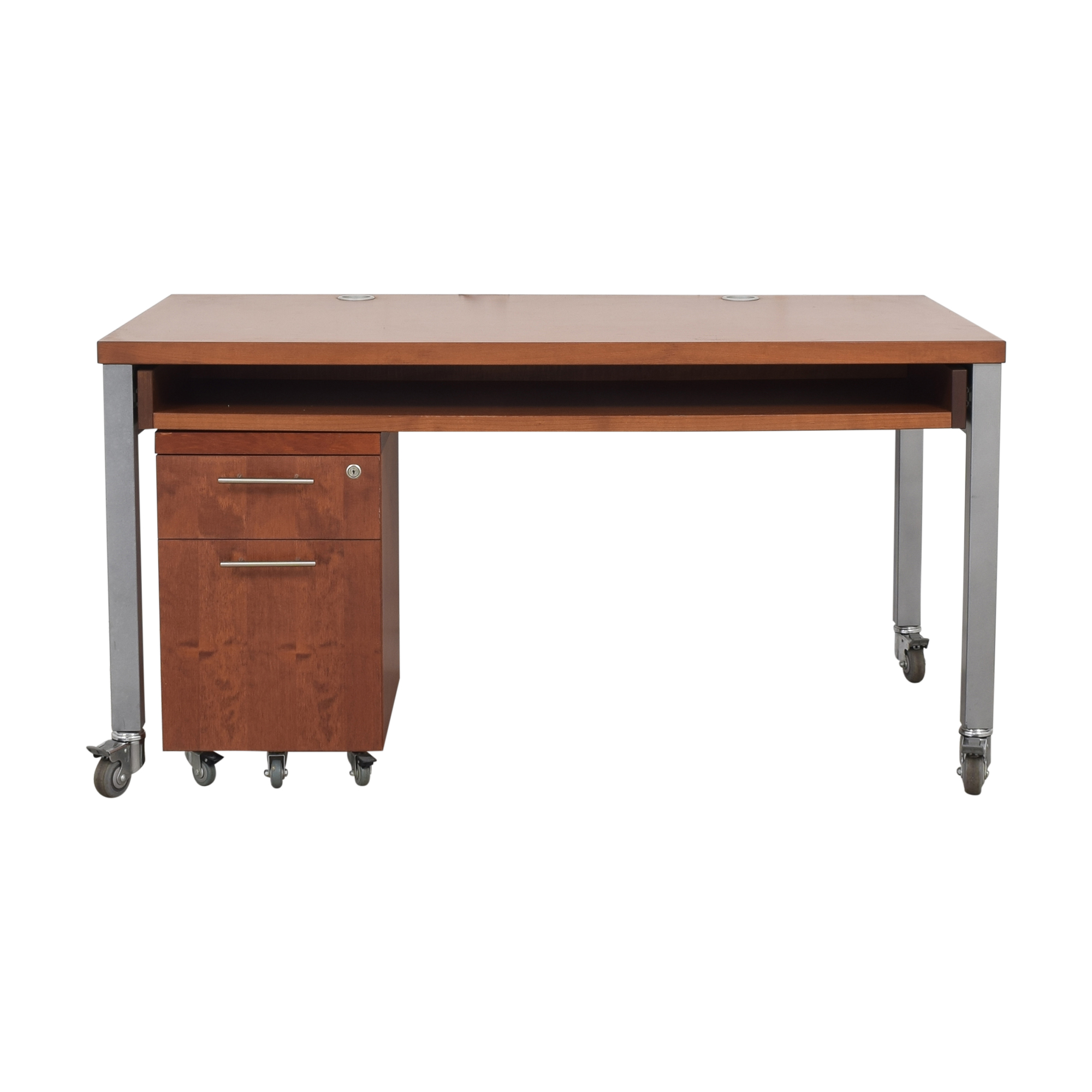 buy Design Within Reach Desk with File Pedestal Design Within Reach Tables