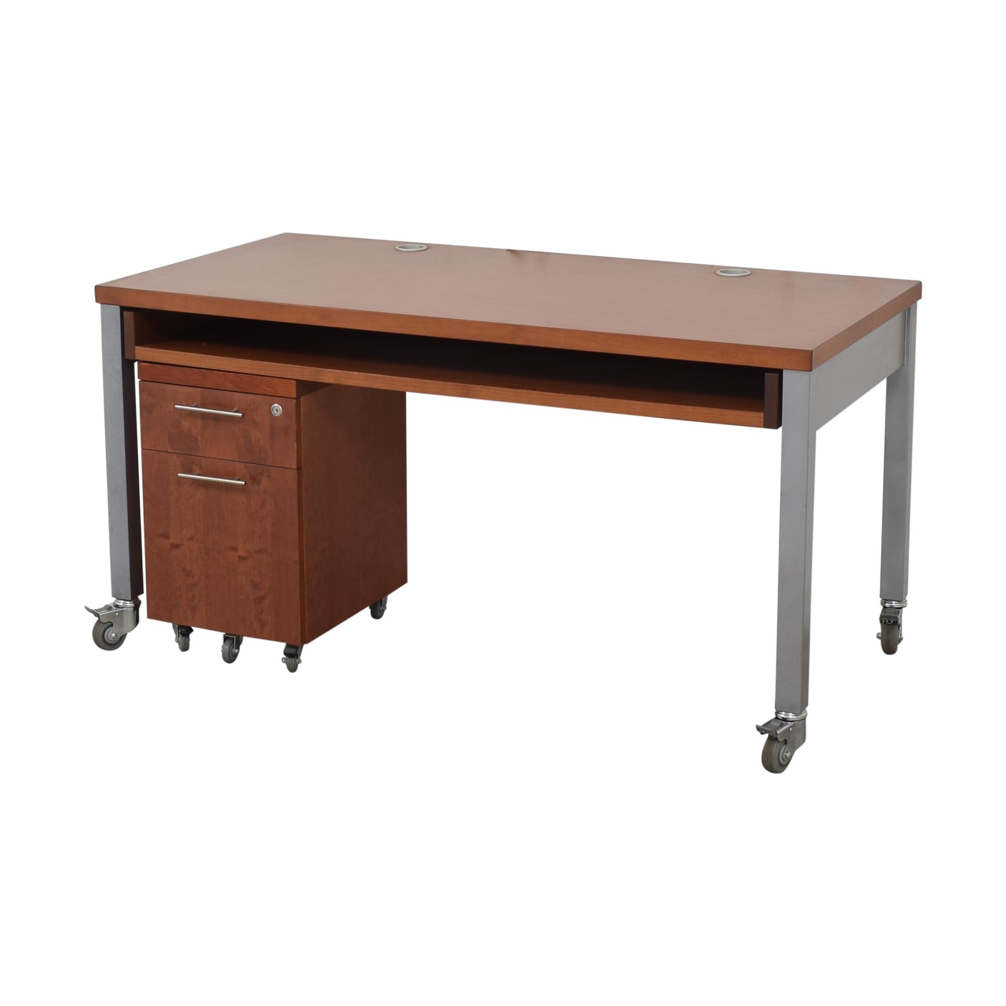 Design Within Reach Design Within Reach Desk with File Pedestal ma