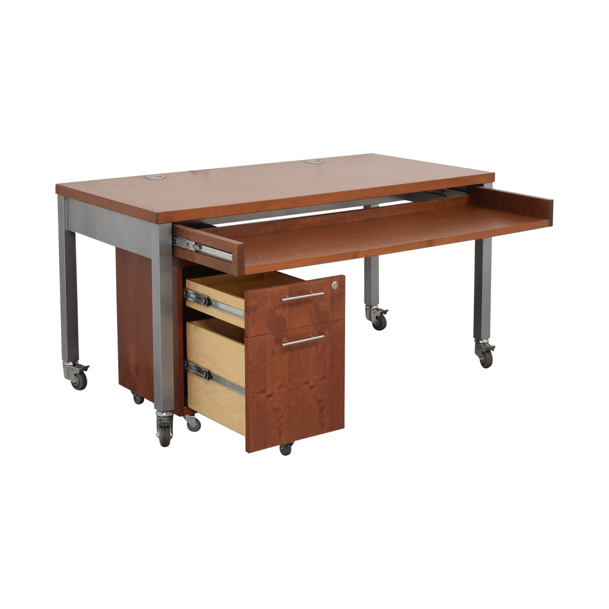 Design Within Reach Desk with File Pedestal sale