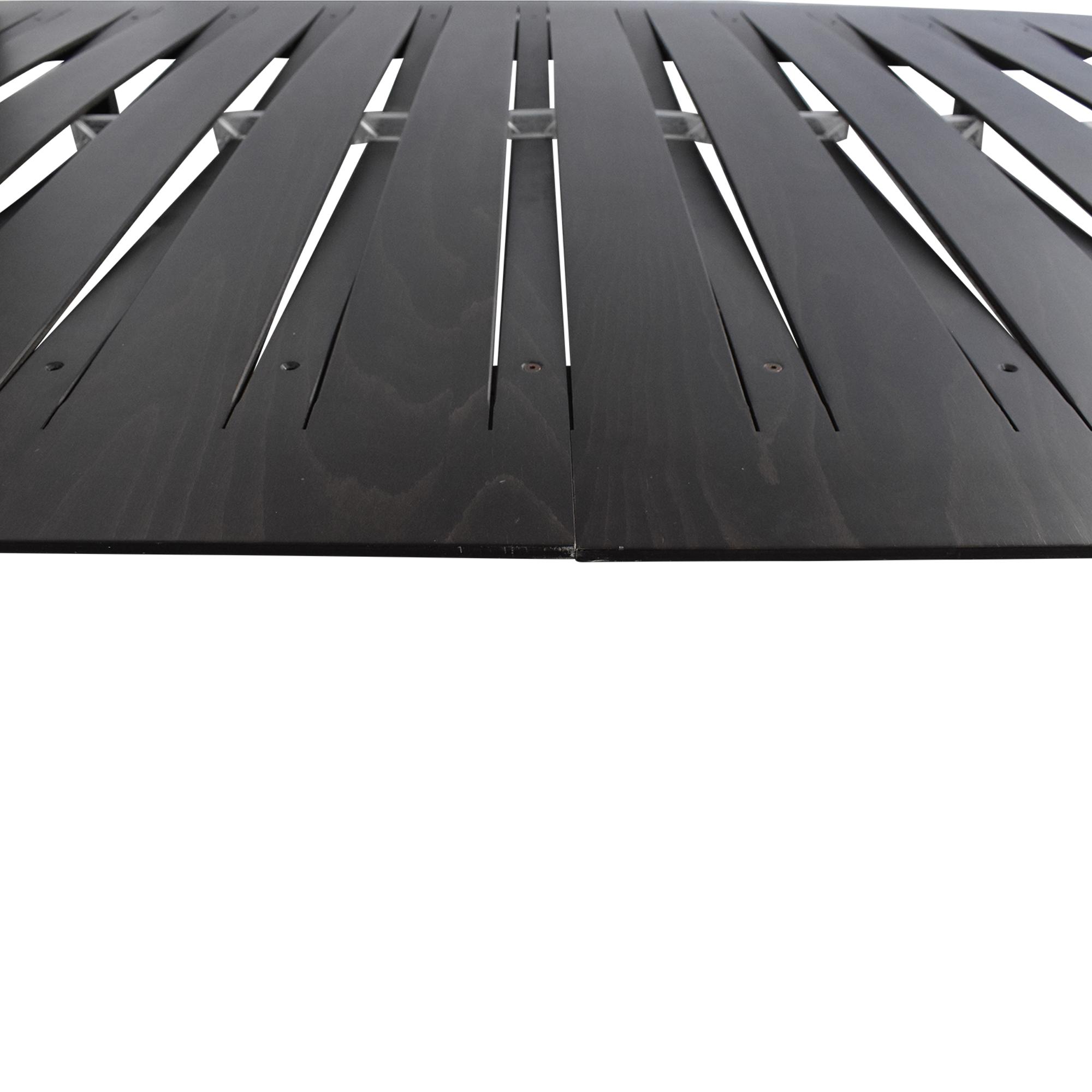 Horm Horm Sottiletto Full/Queen Mid-Century Platform Bed Beds