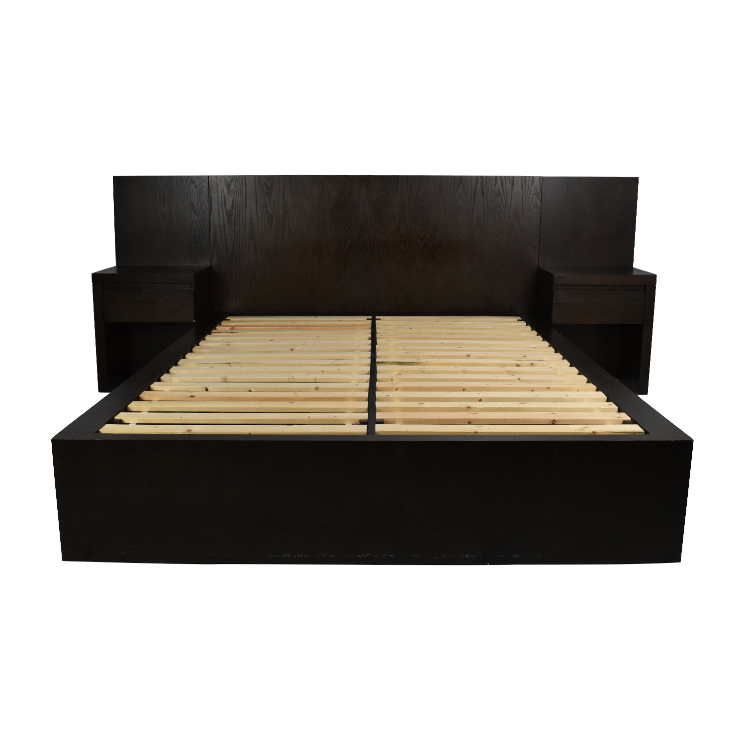 West Elm Queen Size Storage Platform Bed Frame Beds