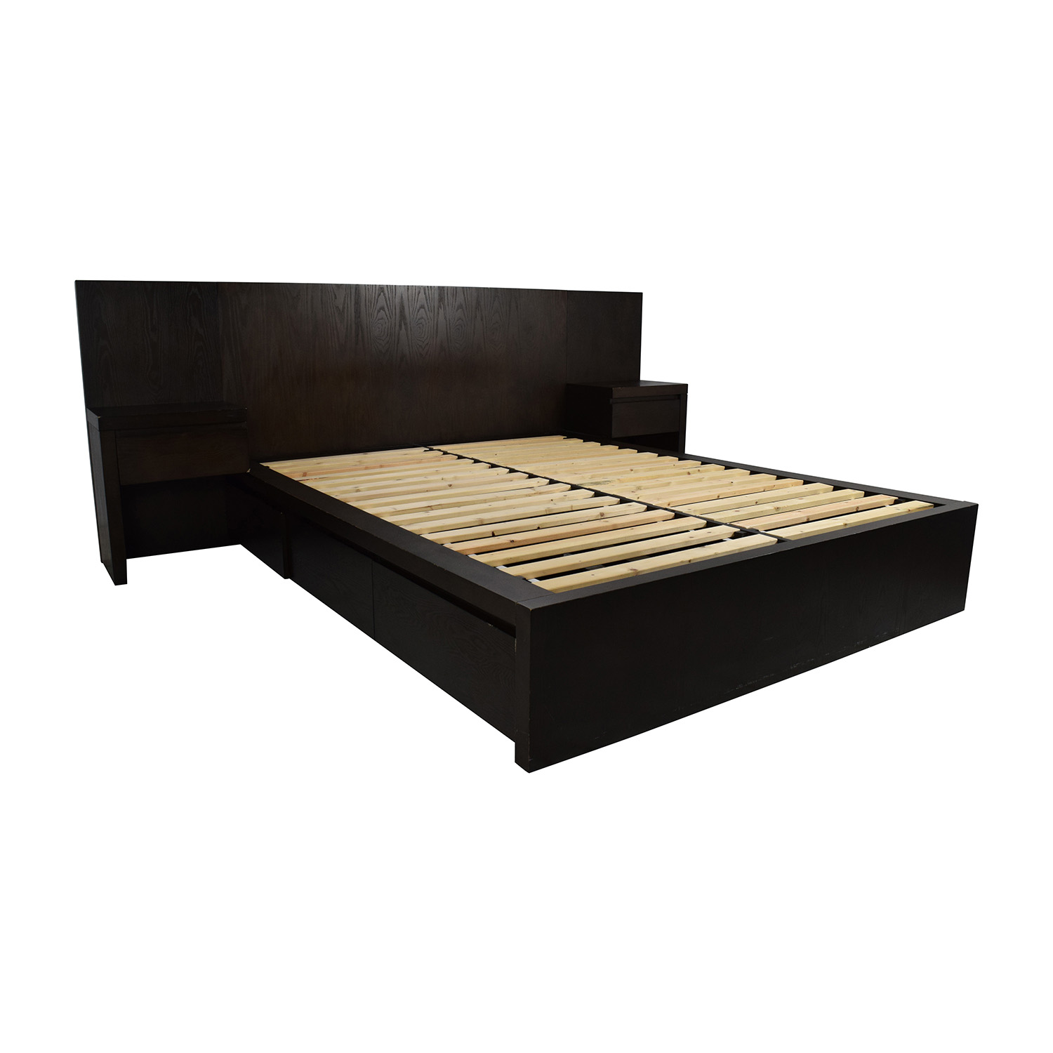 shop west elm queen size storage platform bed frame west elm