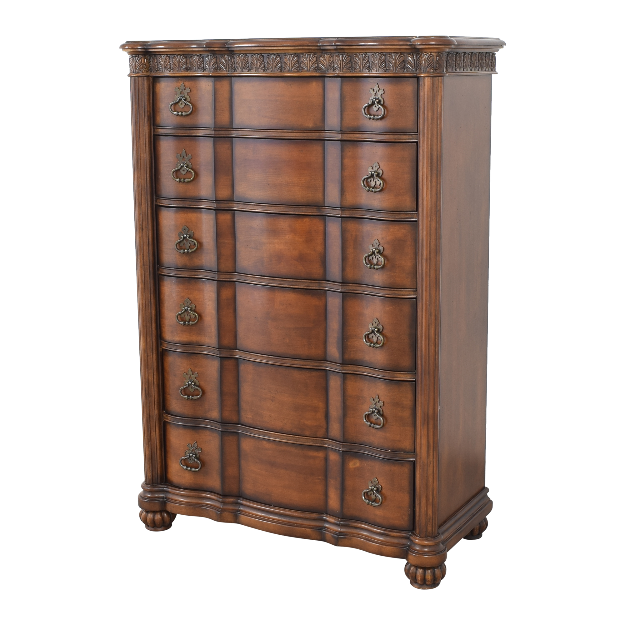 Pulaski Furniture Pulaski Six Drawer Grand Ornate Dresser second hand