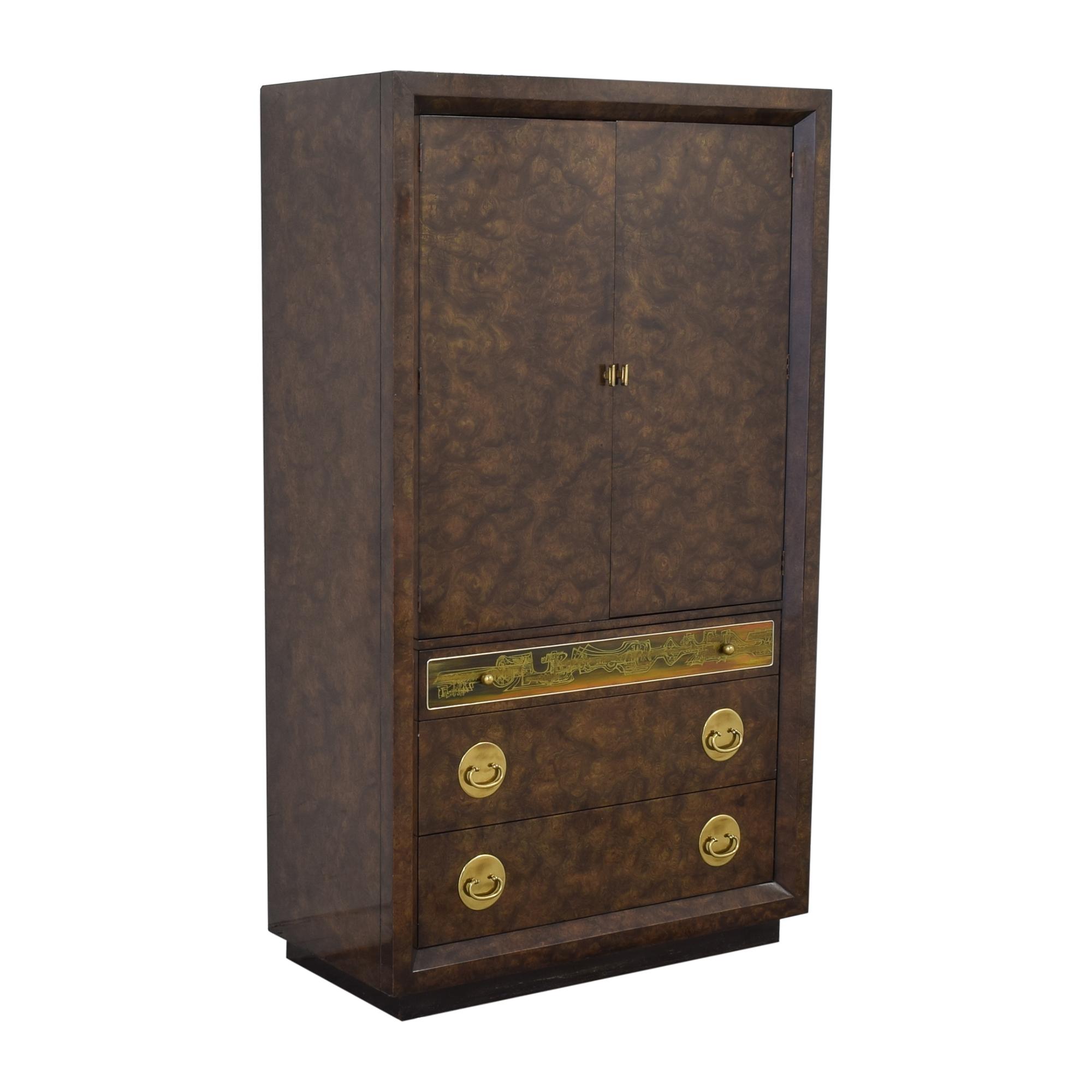Mastercraft Furniture Mastercraft Burlwood Armoir Dresser Vintage pa