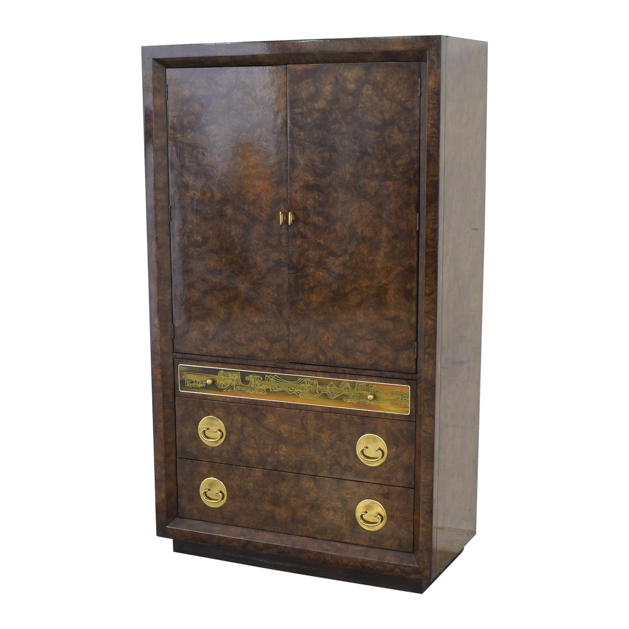 Mastercraft Burlwood Armoir Dresser Vintage Mastercraft Furniture