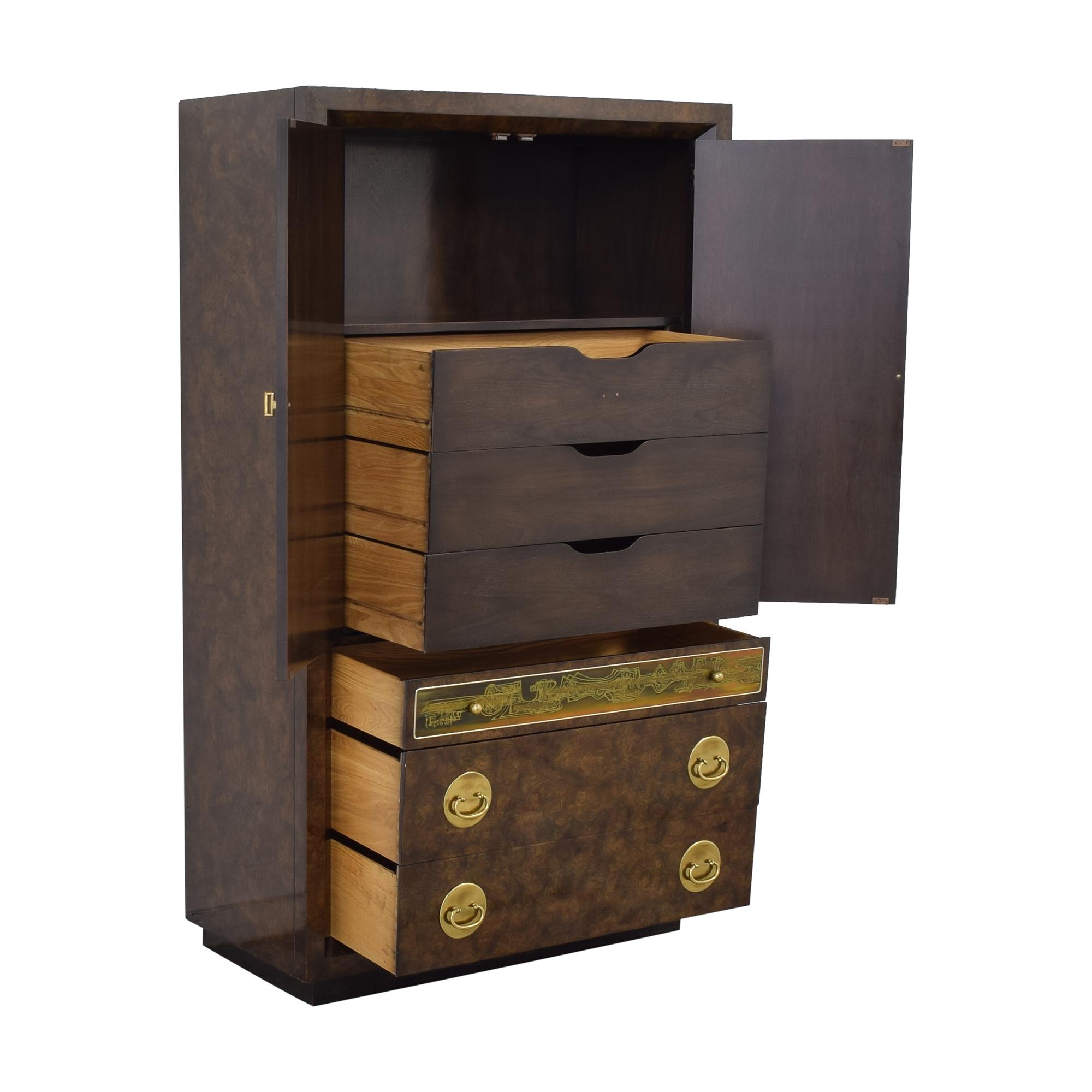 Mastercraft Furniture Mastercraft Burlwood Armoir Dresser Vintage Wardrobes & Armoires