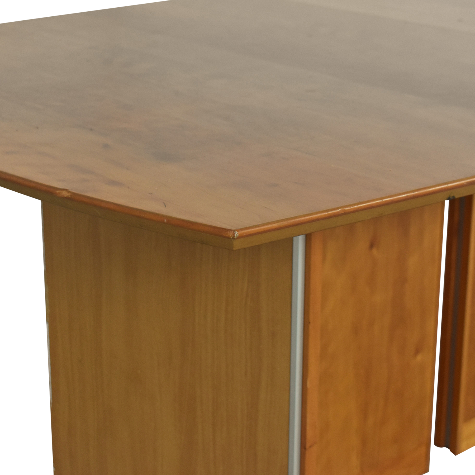 shop Mid Century Modern Style Extendable Dining Table