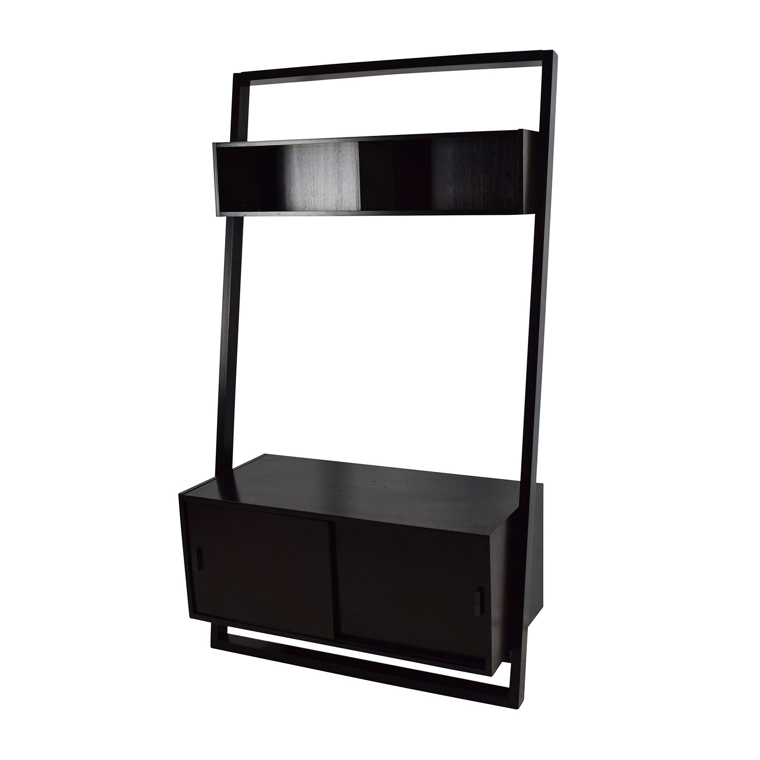 Crate Barrel Sloane Leaning Media Stand And