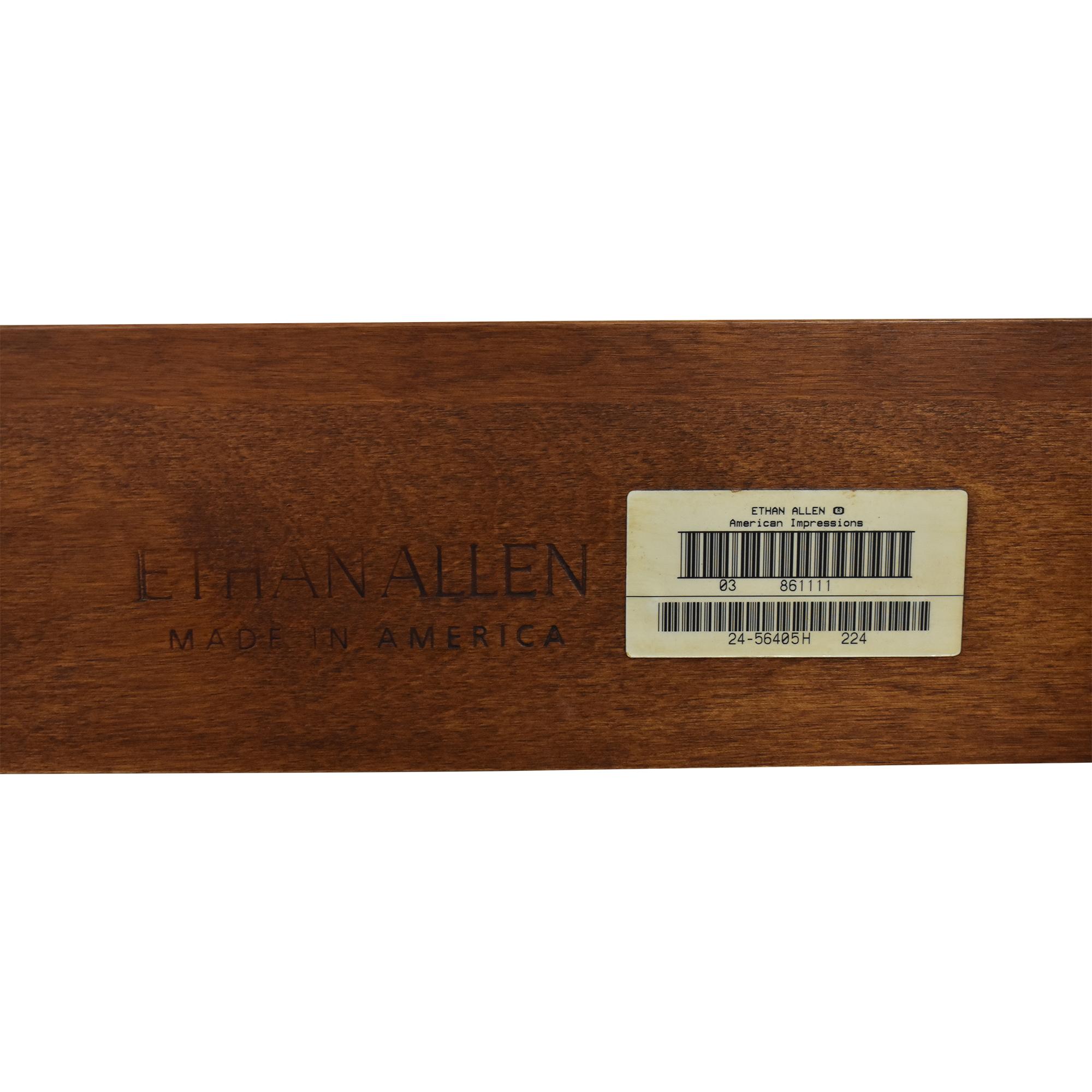 buy Ethan Allen American Impressions Queen Sleigh Bed Frame Ethan Allen