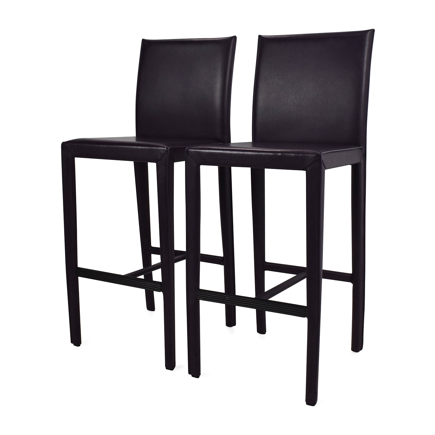61% OFF Crate and Barrel Crate & Barrel Folio Leather Barstools