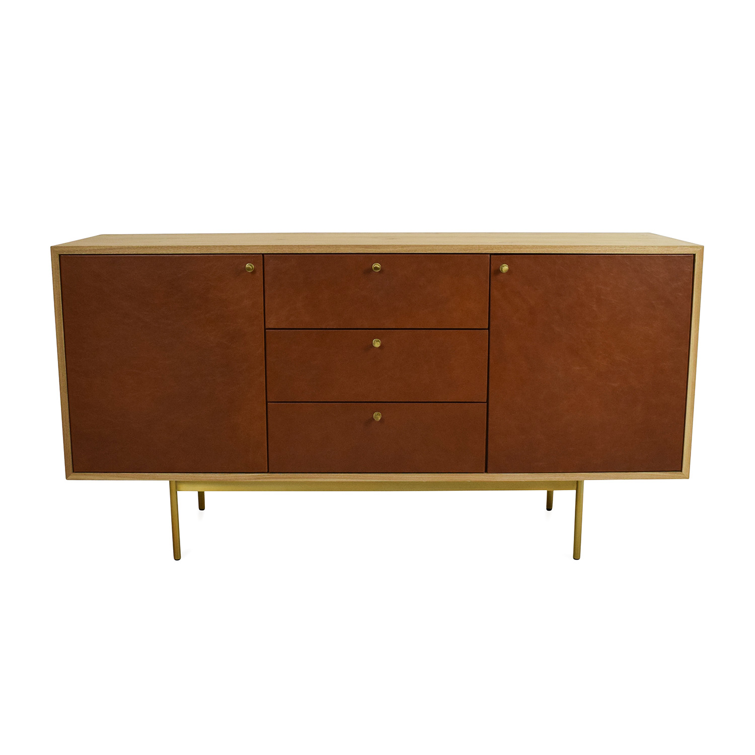 West Elm West Elm Michael Robbins Leather Front Buffet Cabinets & Sideboards