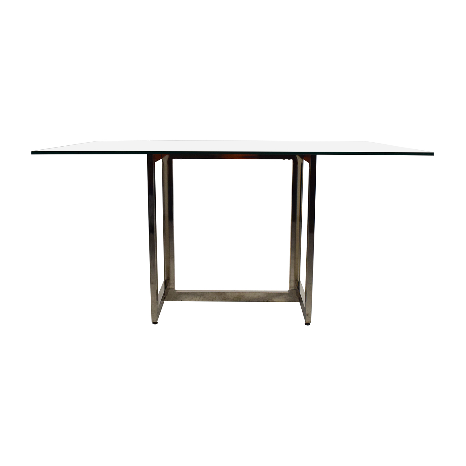 West Elm West Elm Hicks Glass Top Dining Table Glass