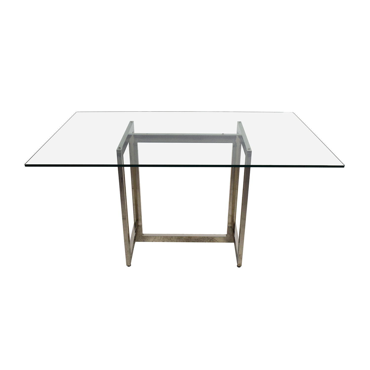 West Elm Hicks Glass Top Dining Table / Dinner Tables