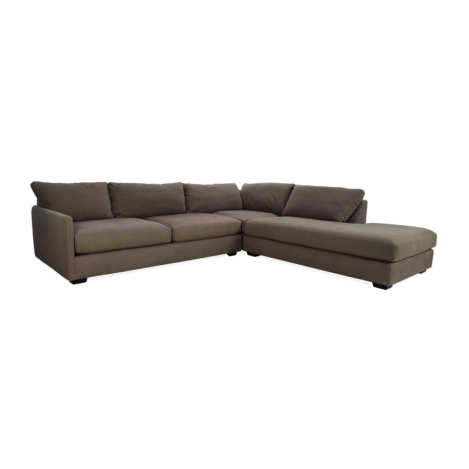 82 Off Crate And Barrel Crate Amp Barrel Domino Sectional