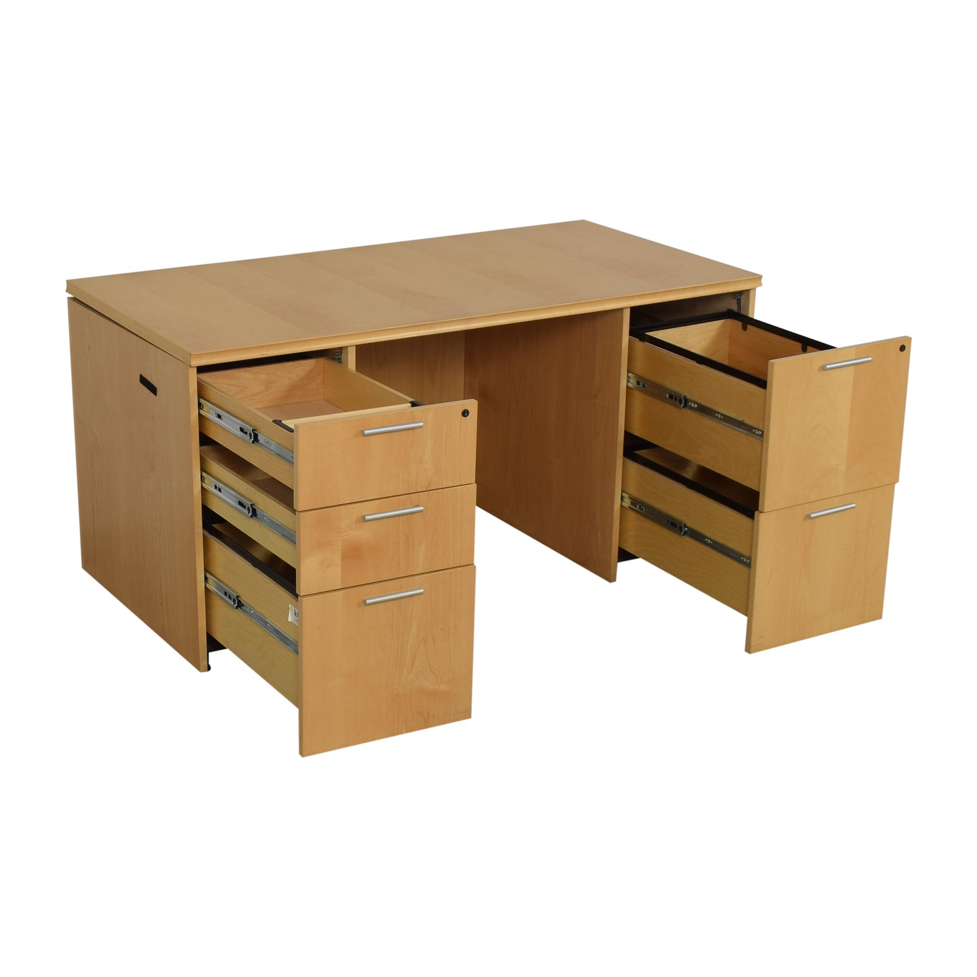 buy Krug Pedastal Desk Krug Tables