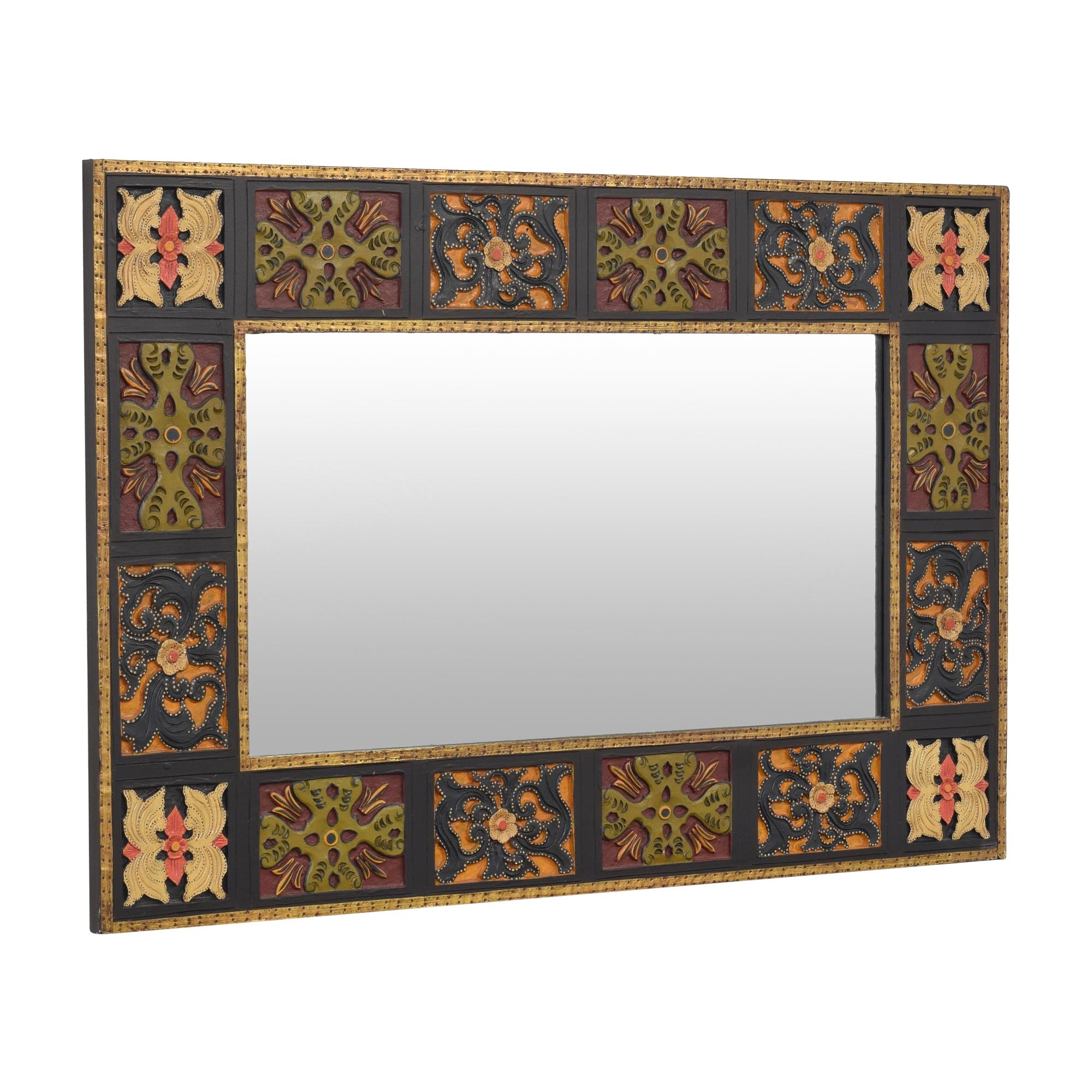 Pier 1 Pier 1 Block Framed Wall Mirror Mirrors