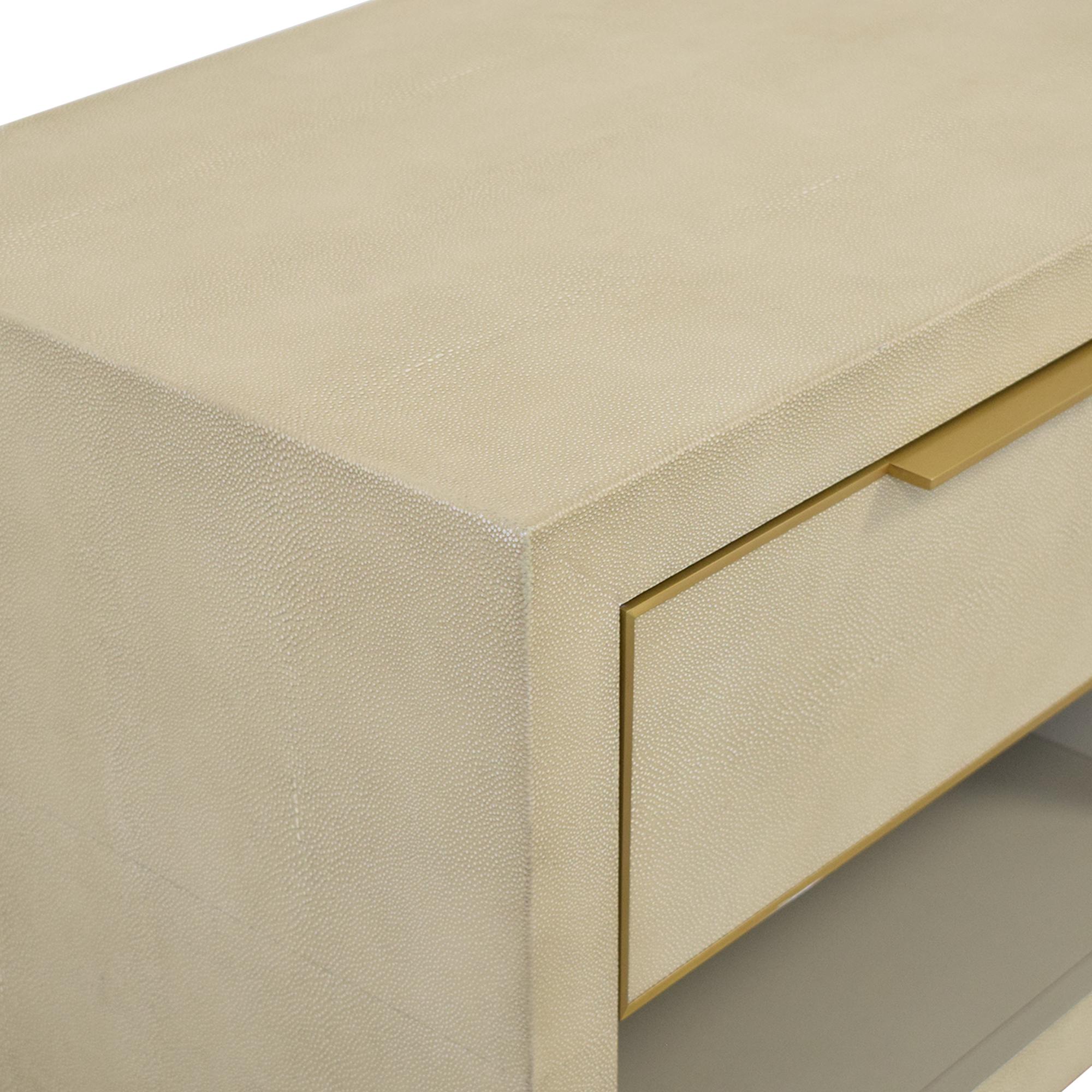 buy Restoration Hardware Cela Shagreen Open Nightstand Restoration Hardware End Tables