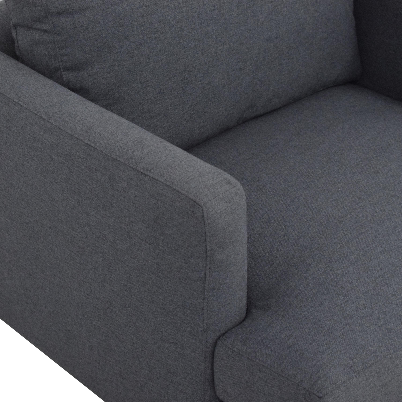 ABC Carpet & Home ABC Carpet & Home Cobble Hill Curbed Chair for sale