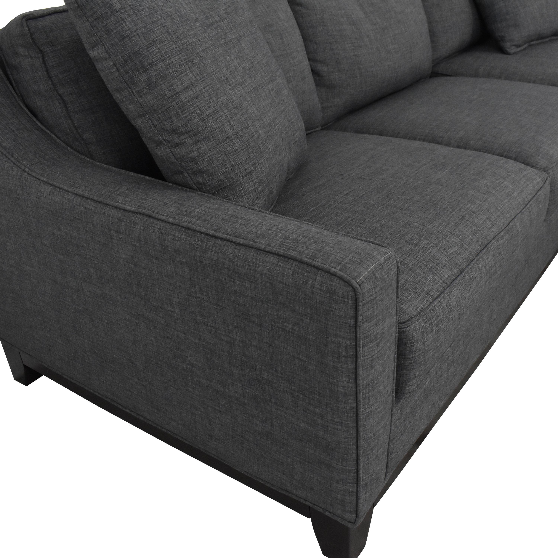 Macy's Macy's Keegan 2-Piece Fabric Reversible Chaise Sectional Sofa nyc
