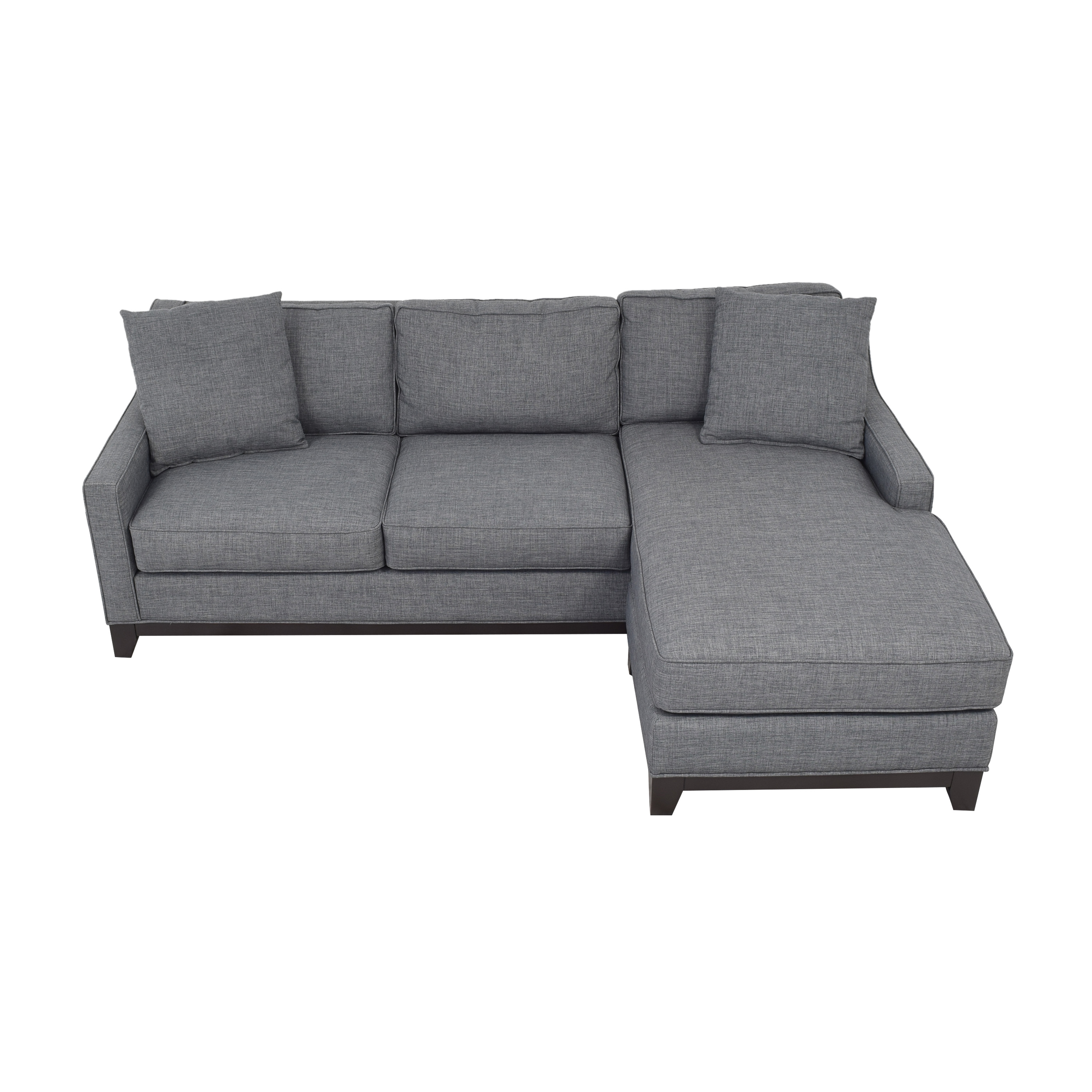 Macy's Keegan 2-Piece Fabric Reversible Chaise Sectional Sofa sale