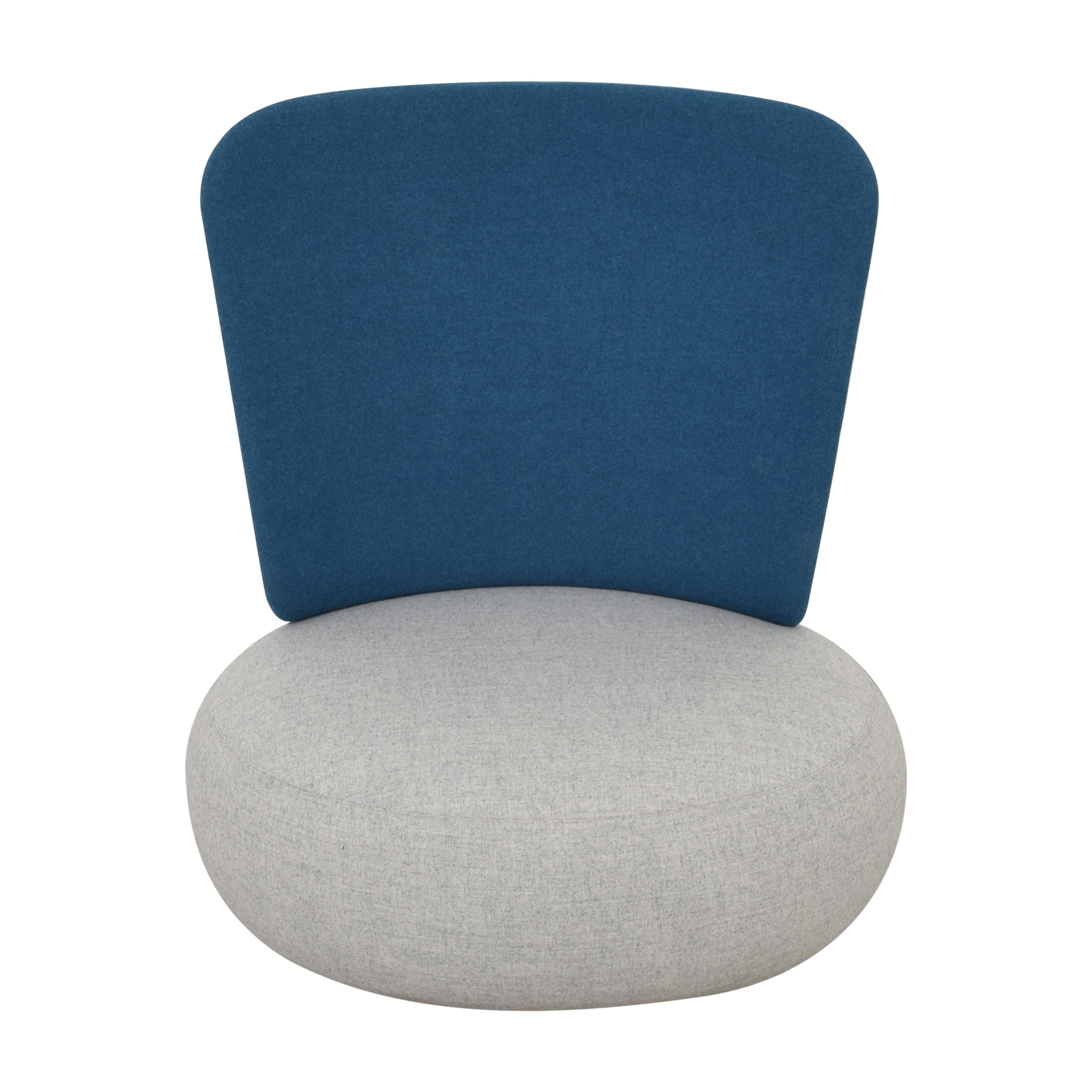 Koleksiyon Koleksiyon Solis Pouf with Backrest gray and blue
