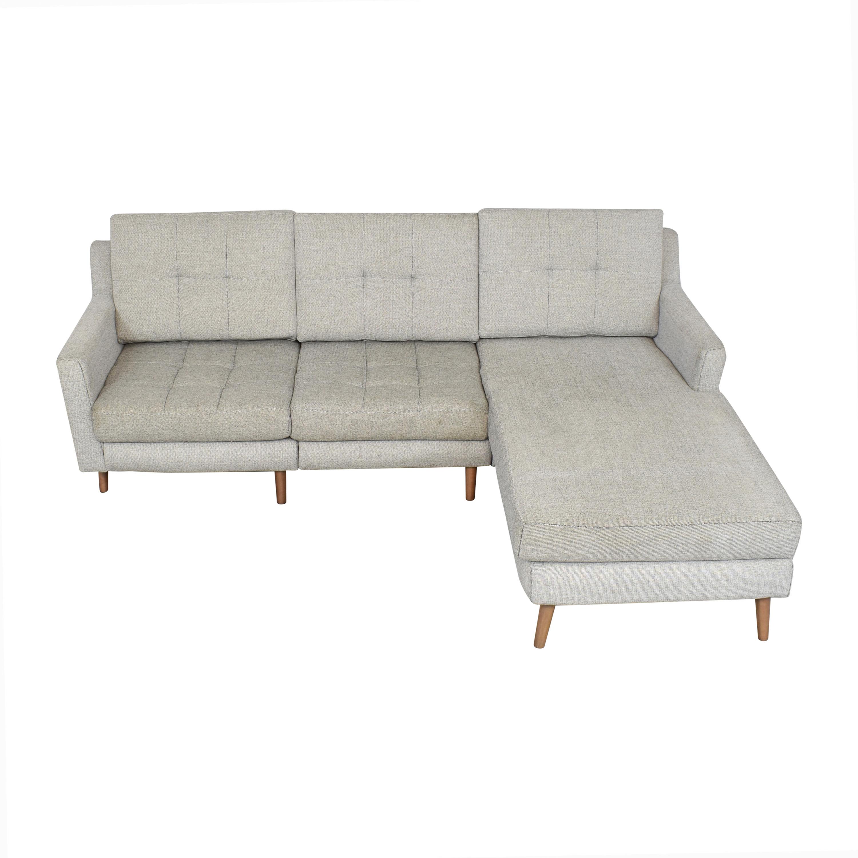 buy Burrow Slope Nomad Sofa Sectional Burrow Sofas