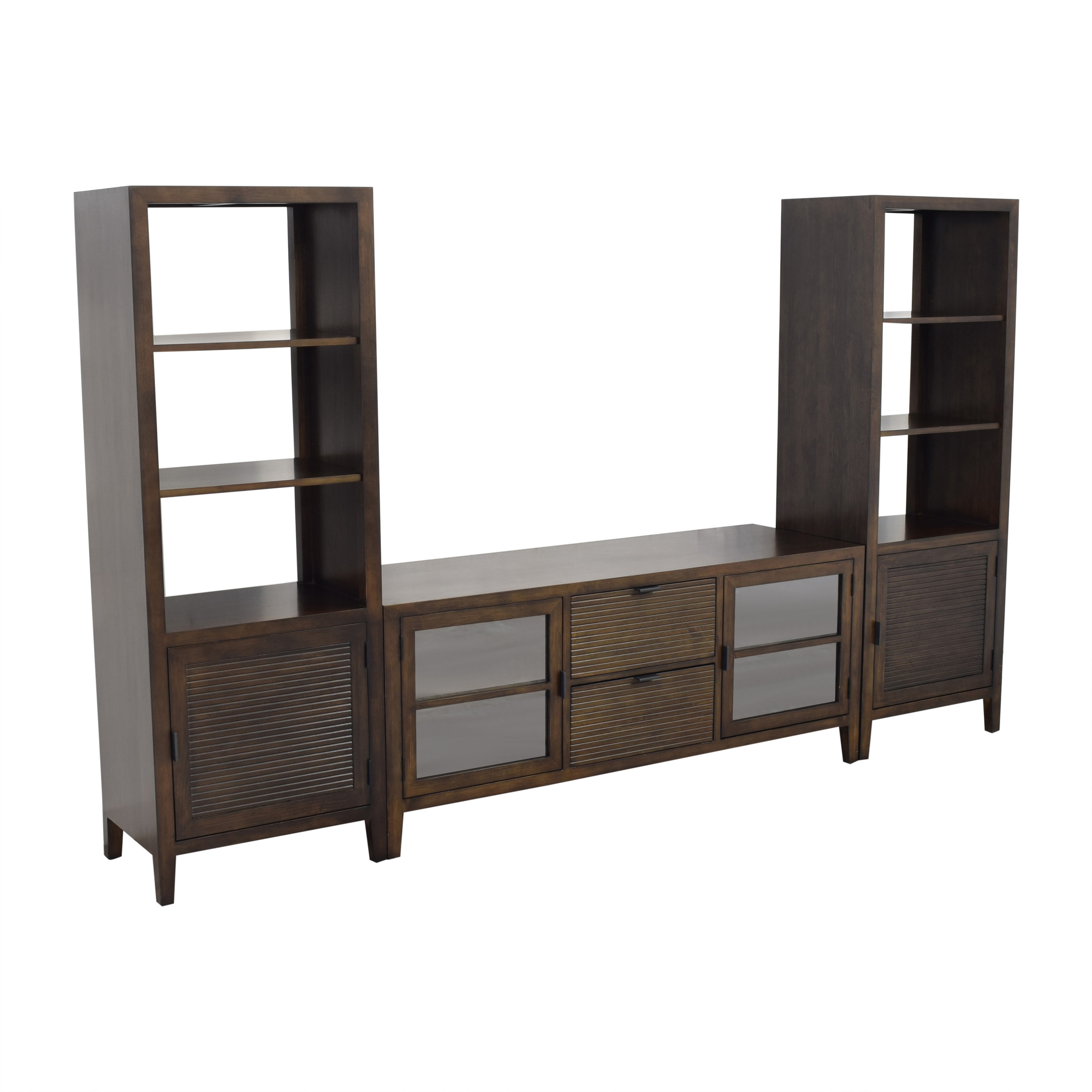 buy Crate & Barrel Media Console with Two Media Towers Crate & Barrel