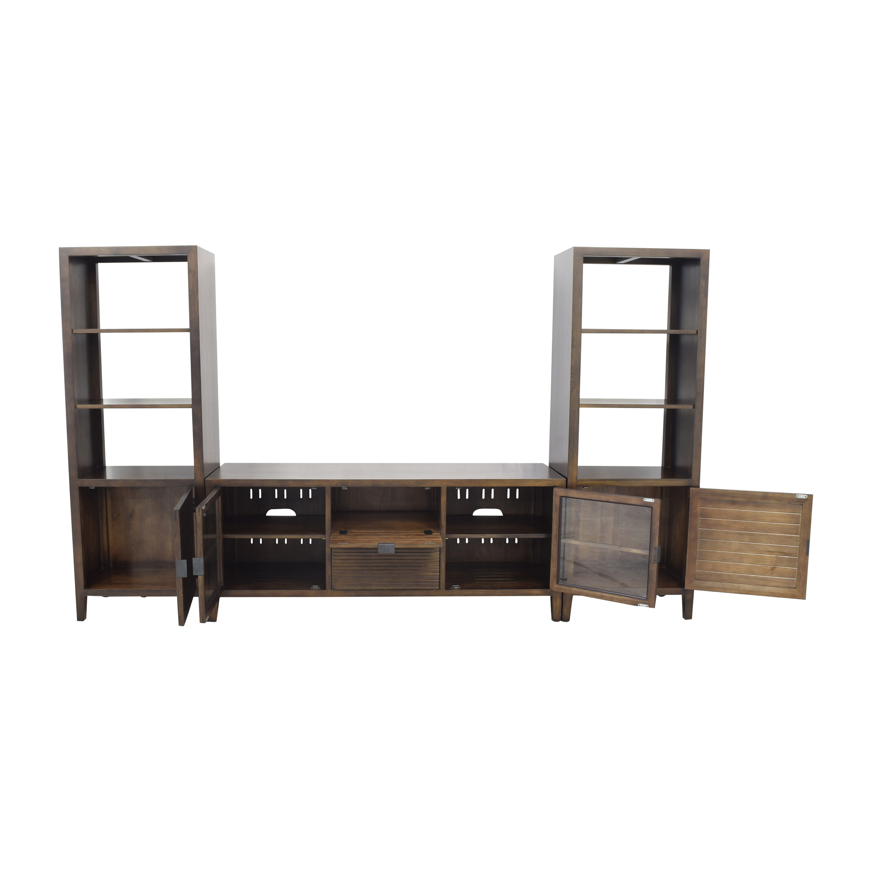 Crate & Barrel Crate & Barrel Media Console with Two Media Towers nyc
