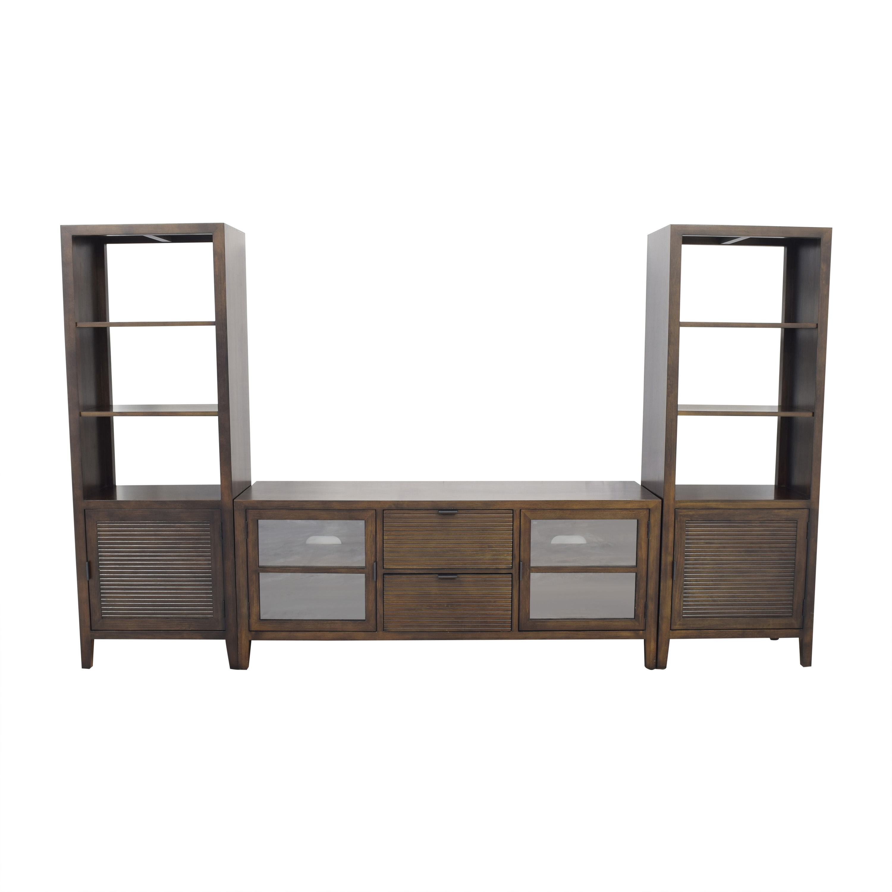 Crate & Barrel Crate & Barrel Media Console with Two Media Towers