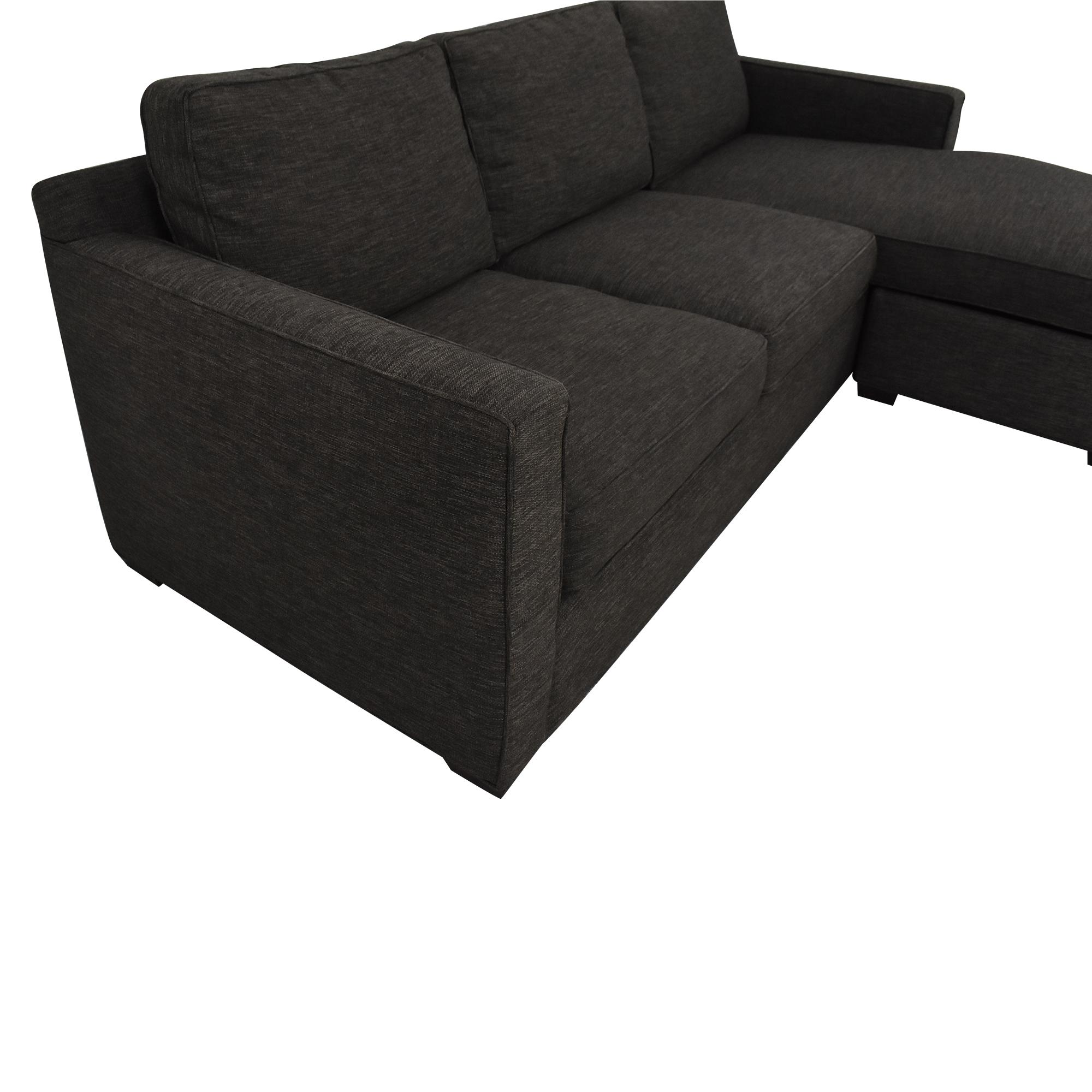 Crate & Barrel Crate & Barrel Davis Sectional Sofa dimensions