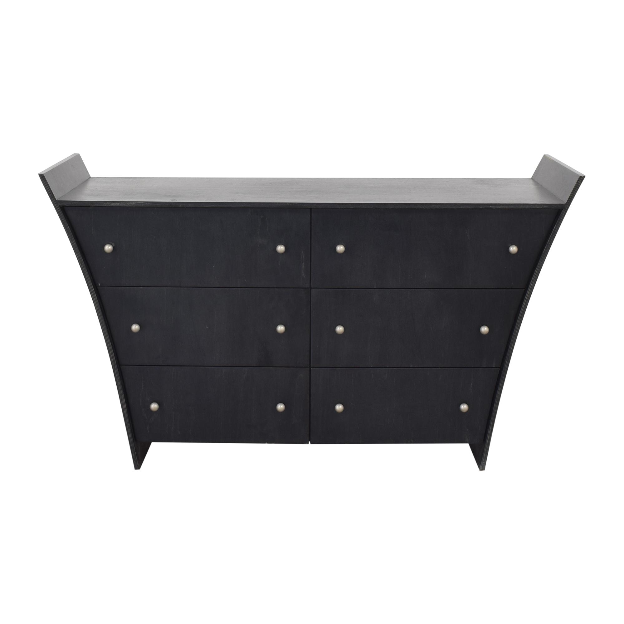buy Inverted Six Drawer Dresser