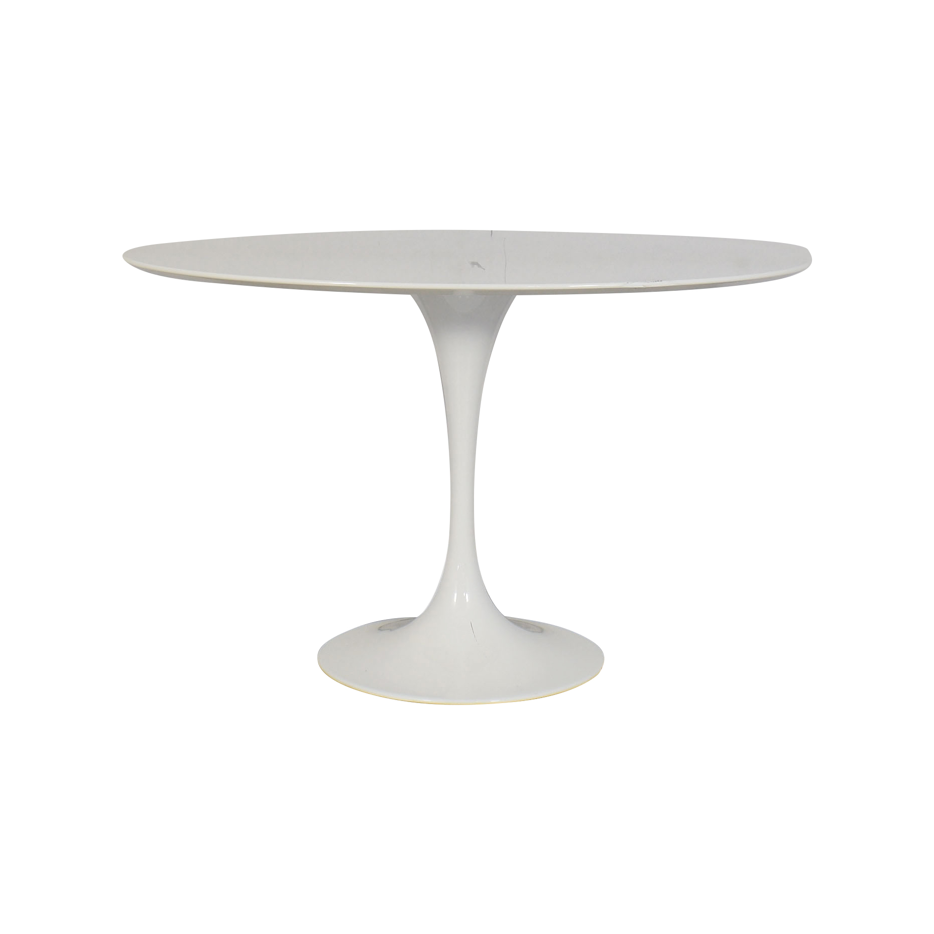 LexMod LexMod Lippa Oval Dining Table white