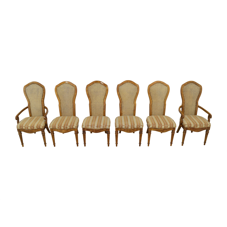 JBW Lustig JBW Lustig Cane Back Dining Chairs ct