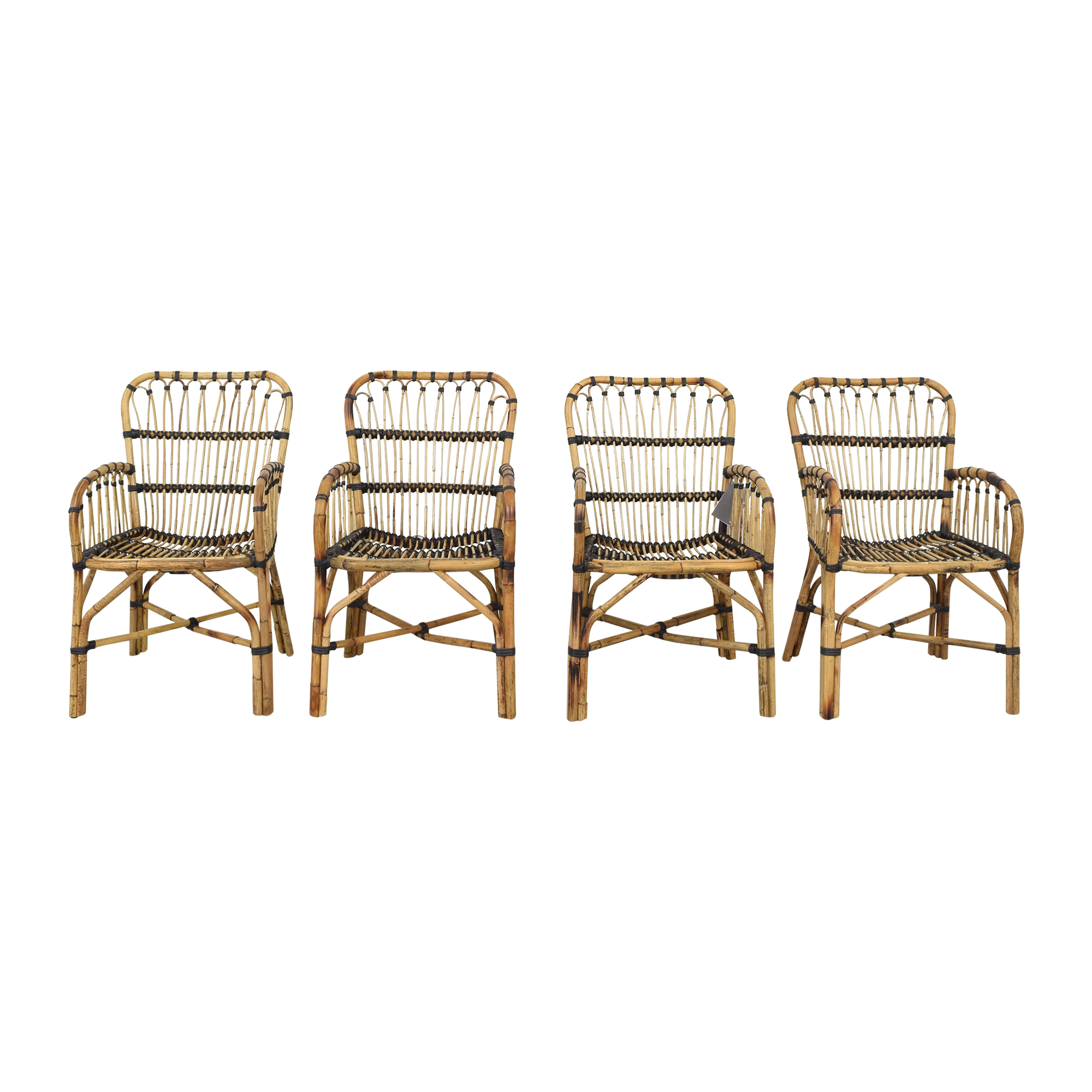 Article Article Malou Rattan Dining Chairs used