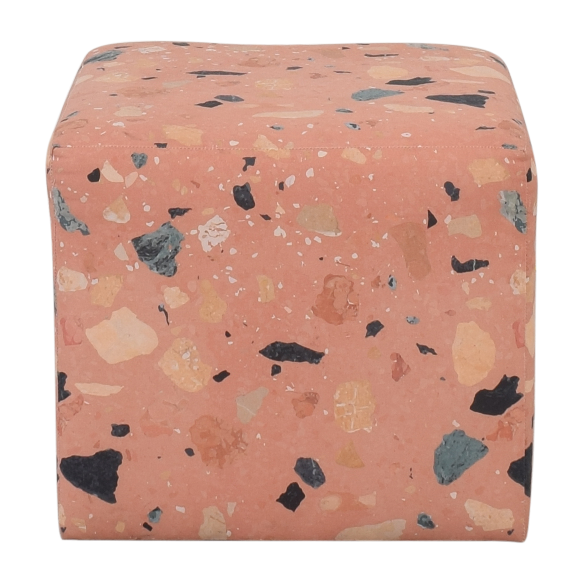 The Inside The Inside Terracotta Sperduti Cube Ottoman for sale